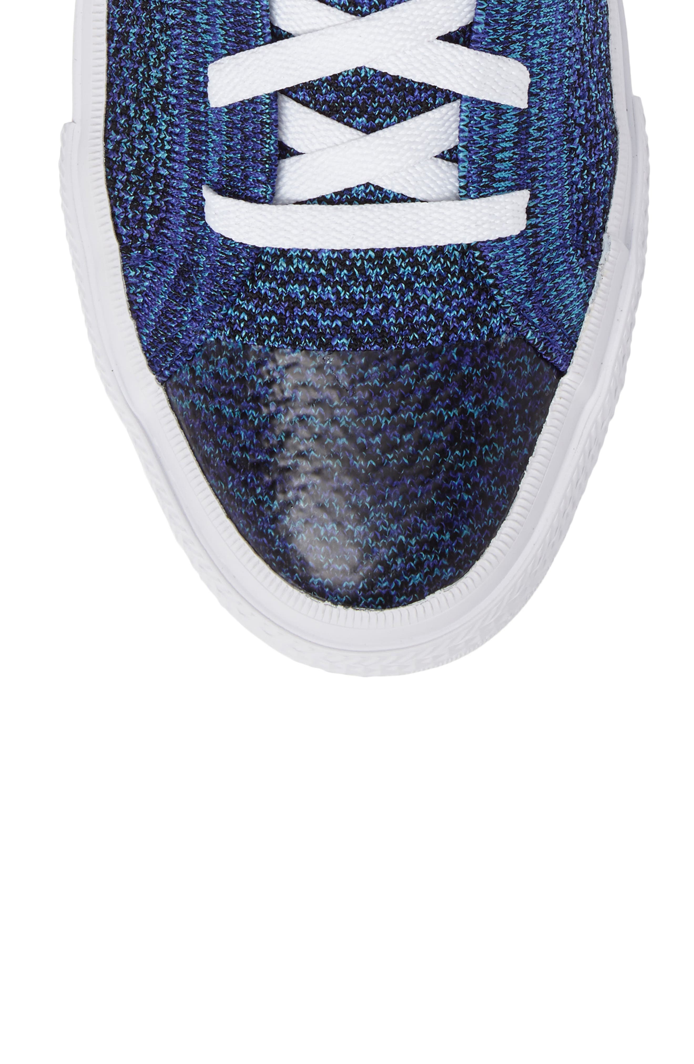 Chuck Taylor<sup>®</sup> All Star<sup>®</sup> Flyknit Hi Sneaker,                             Alternate thumbnail 5, color,                             Indigo