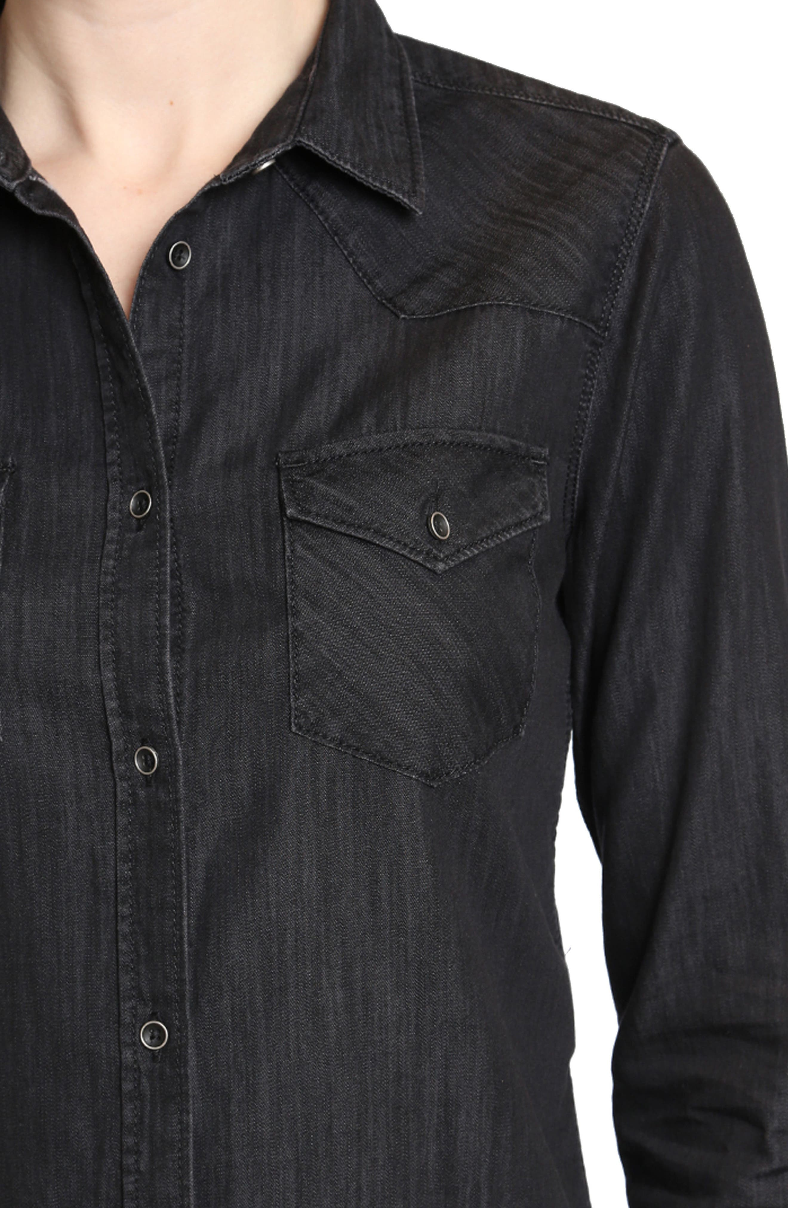 Alternate Image 3  - Mavi Jeans Isabel Denim Shirt