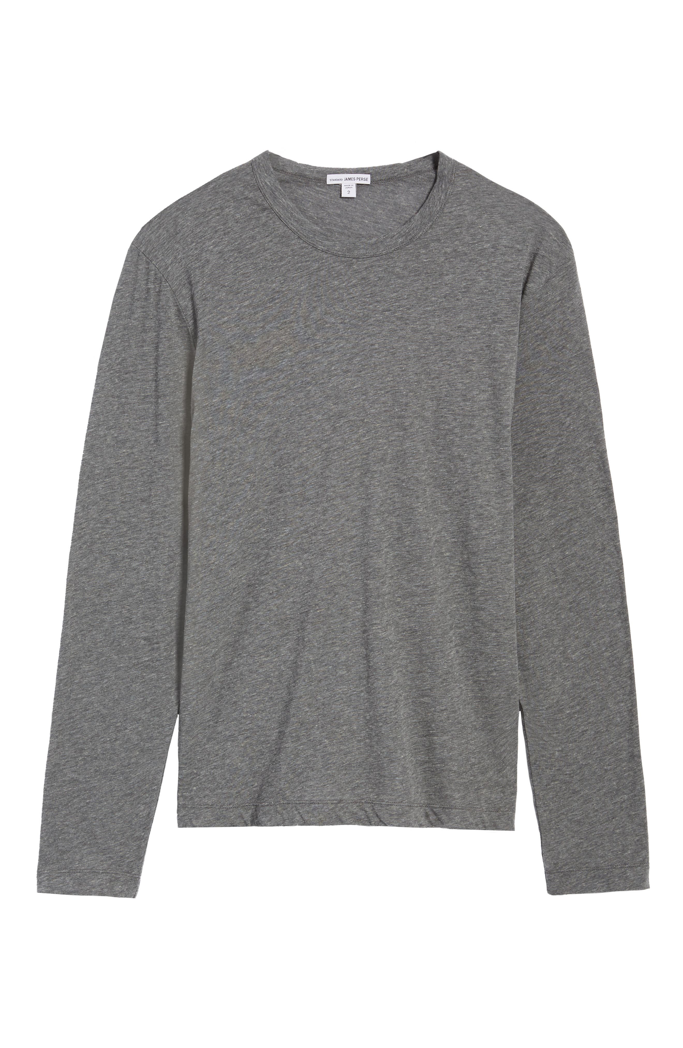 Alternate Image 5  - James Perse Mélange Knit Long Sleeve T-Shirt