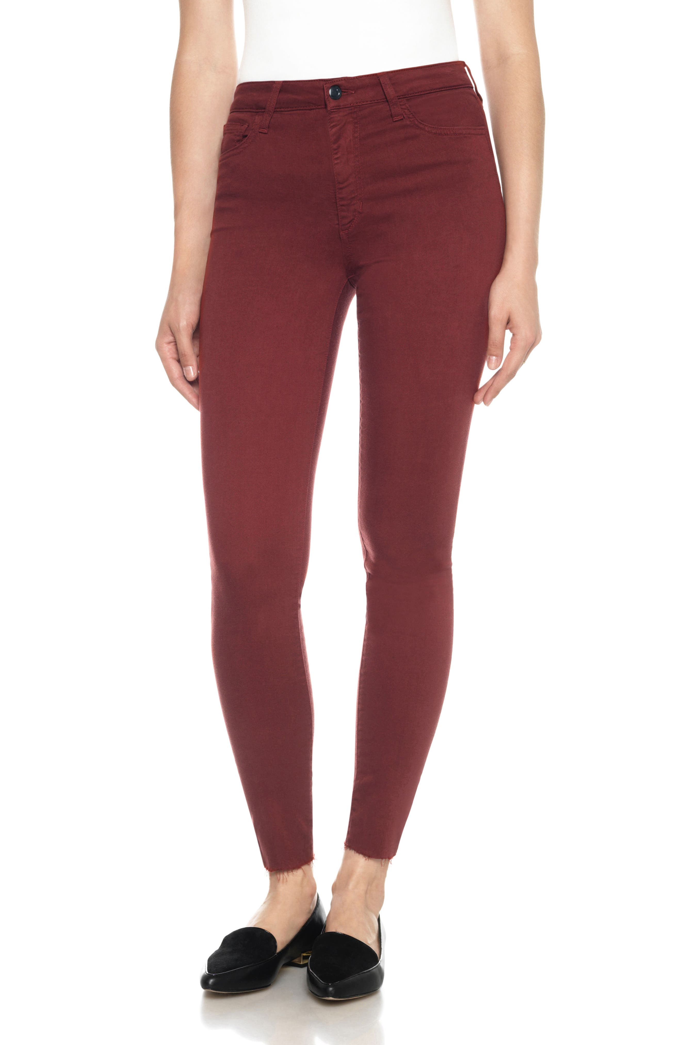 Charlie High Rise Ankle Skinny Jeans,                             Main thumbnail 1, color,                             Henna