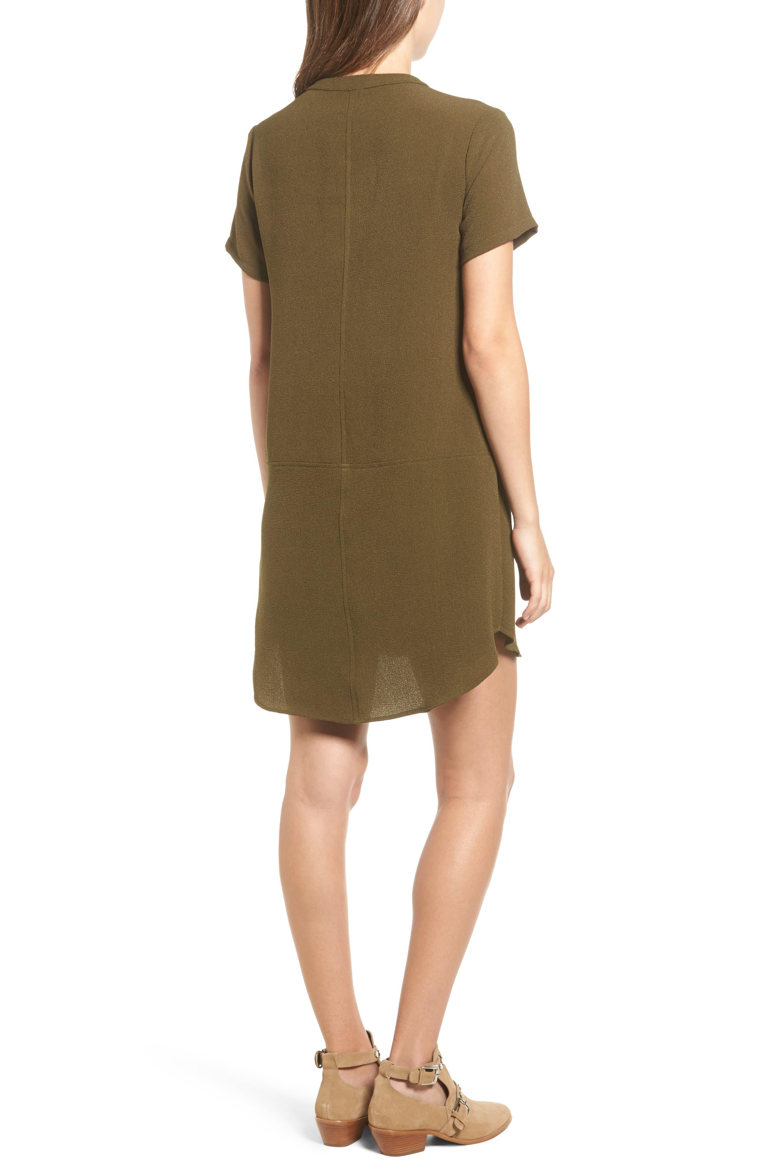 Hailey Crepe Dress,                             Alternate thumbnail 2, color,                             Olive