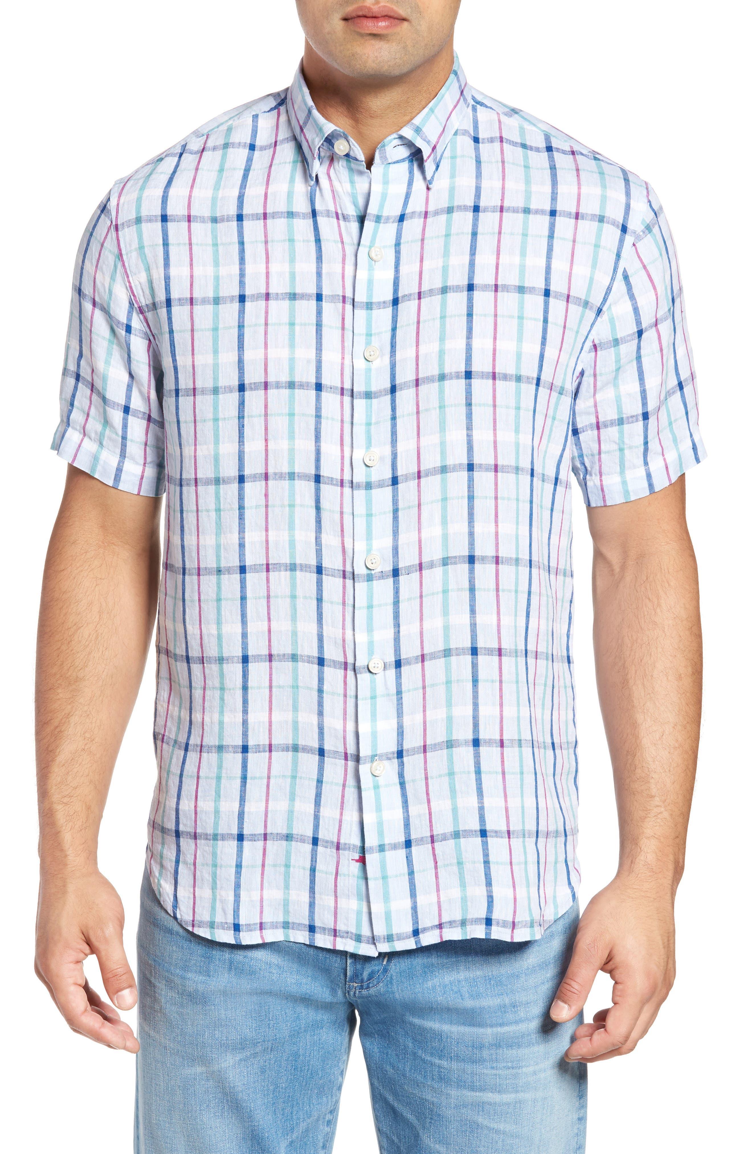 Tommy Bahama Celestia Plaid Linen Sport Shirt