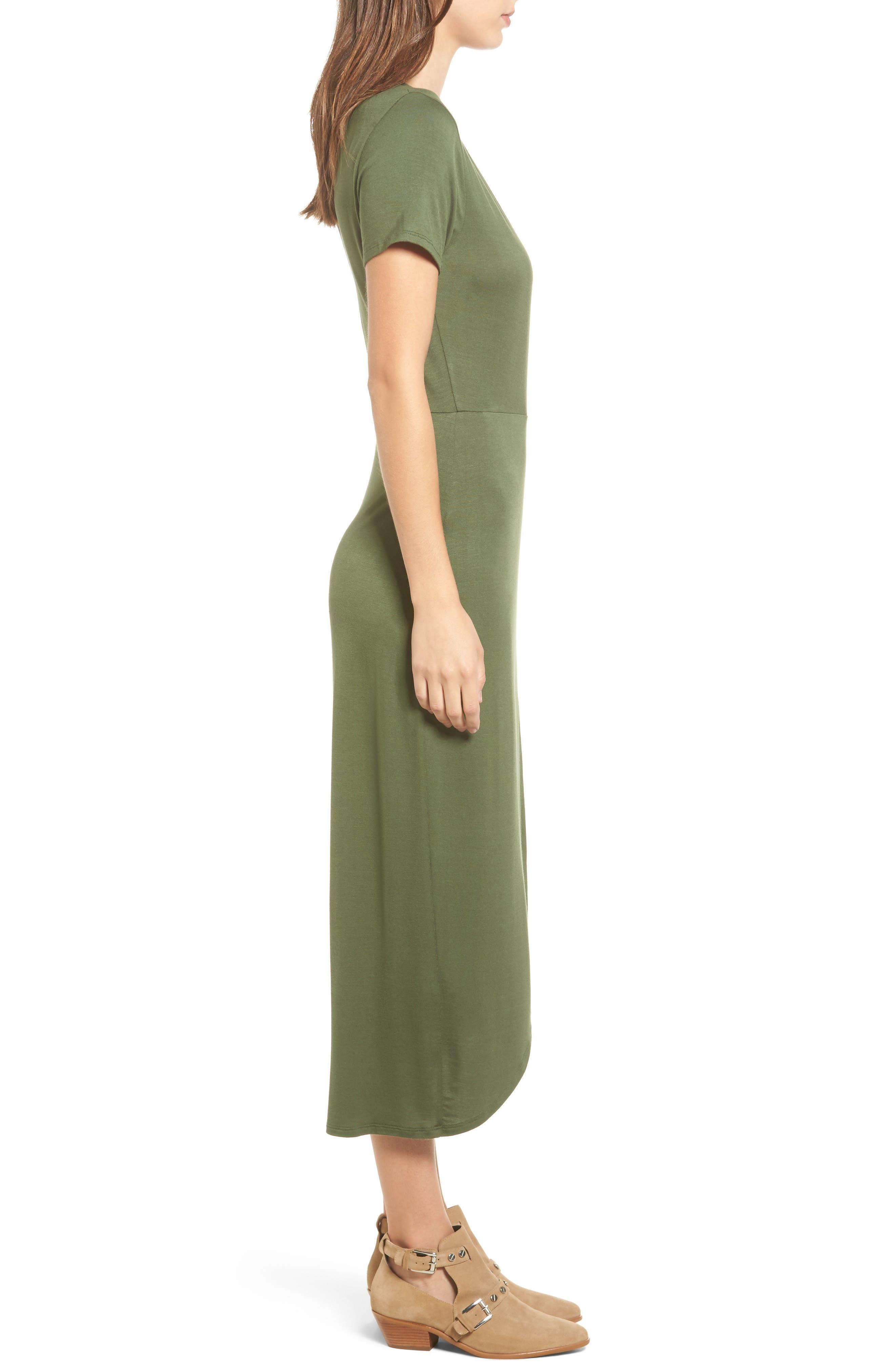 Alternate Image 3  - One Clothing Knit Wrap Midi Dress