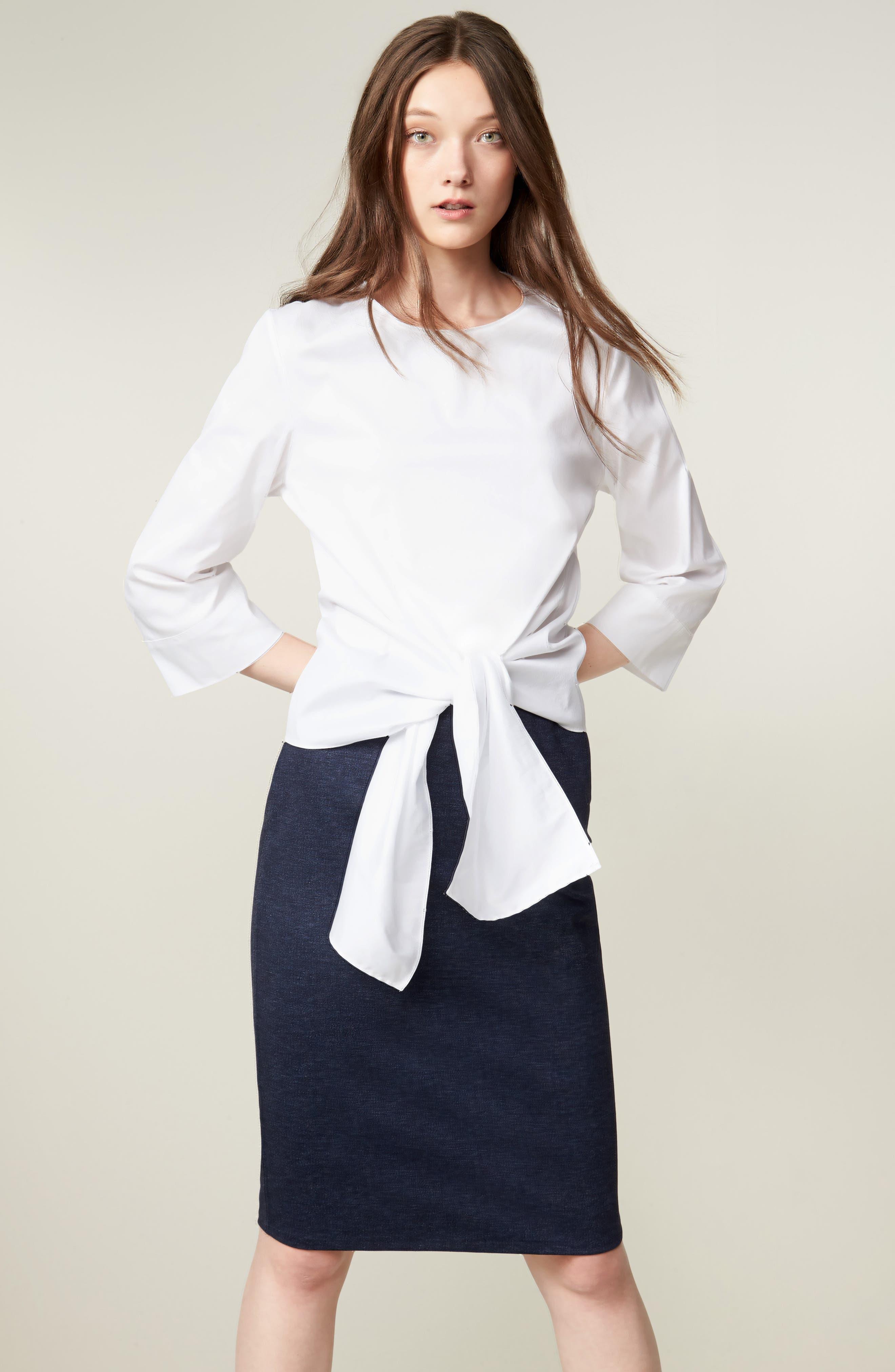 Alternate Image 3  - Halogen® Knit Pencil Skirt (Regular & Petite)