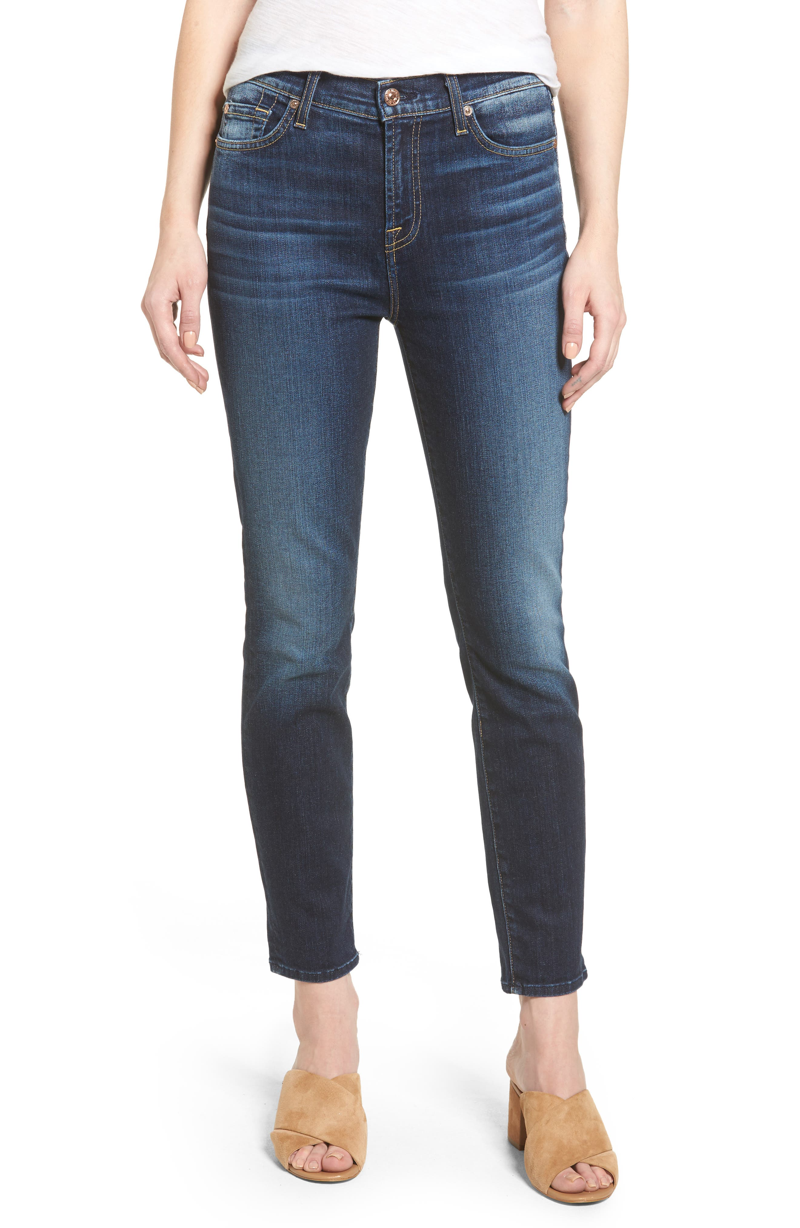 Alternate Image 1 Selected - Seven7 Roxanne High Waist Ankle Jeans (Aggressive Madison Ave)