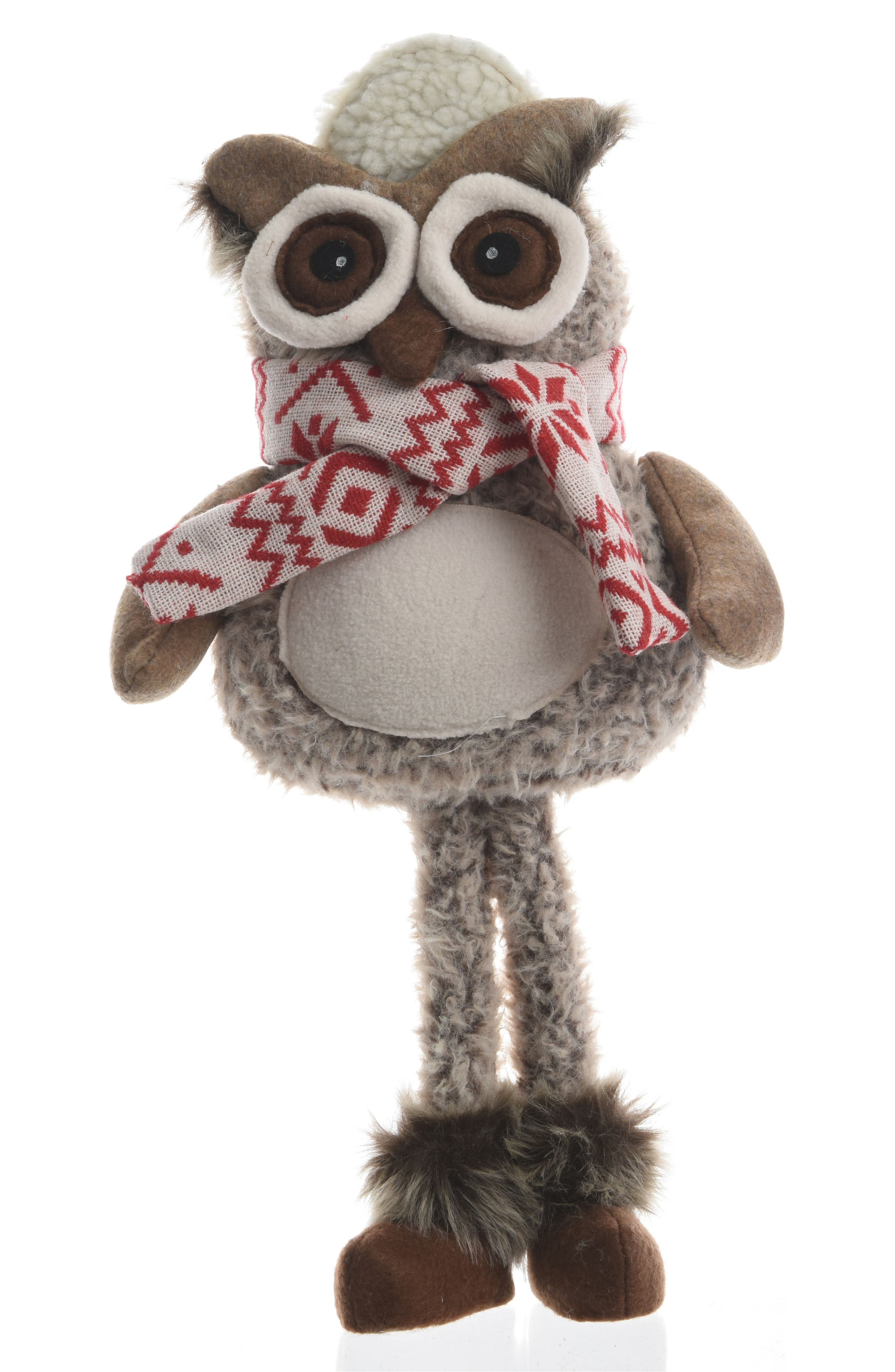Standing Owl Figurine,                         Main,                         color, White
