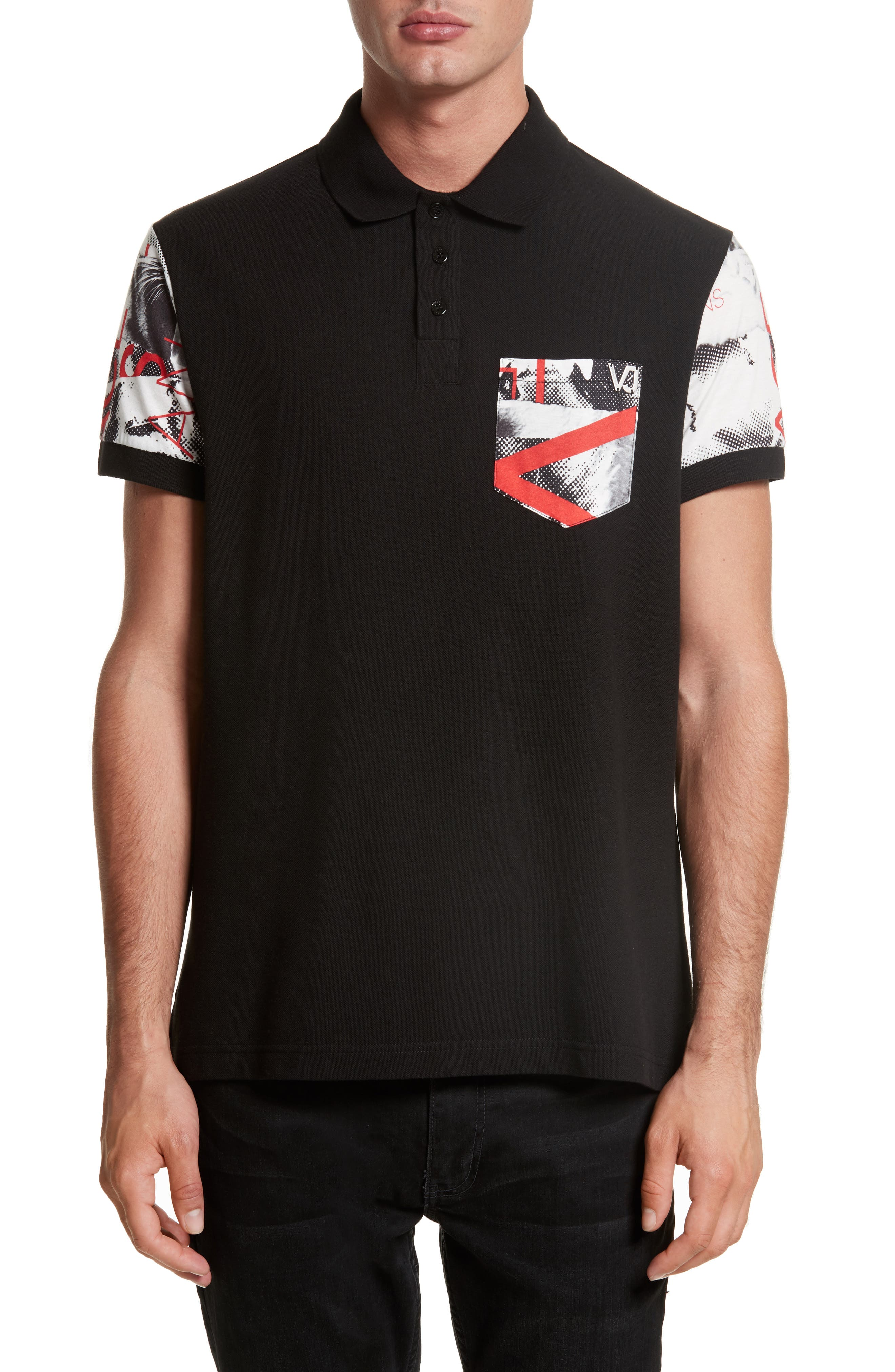 Versace Jeans Print Pocket Polo
