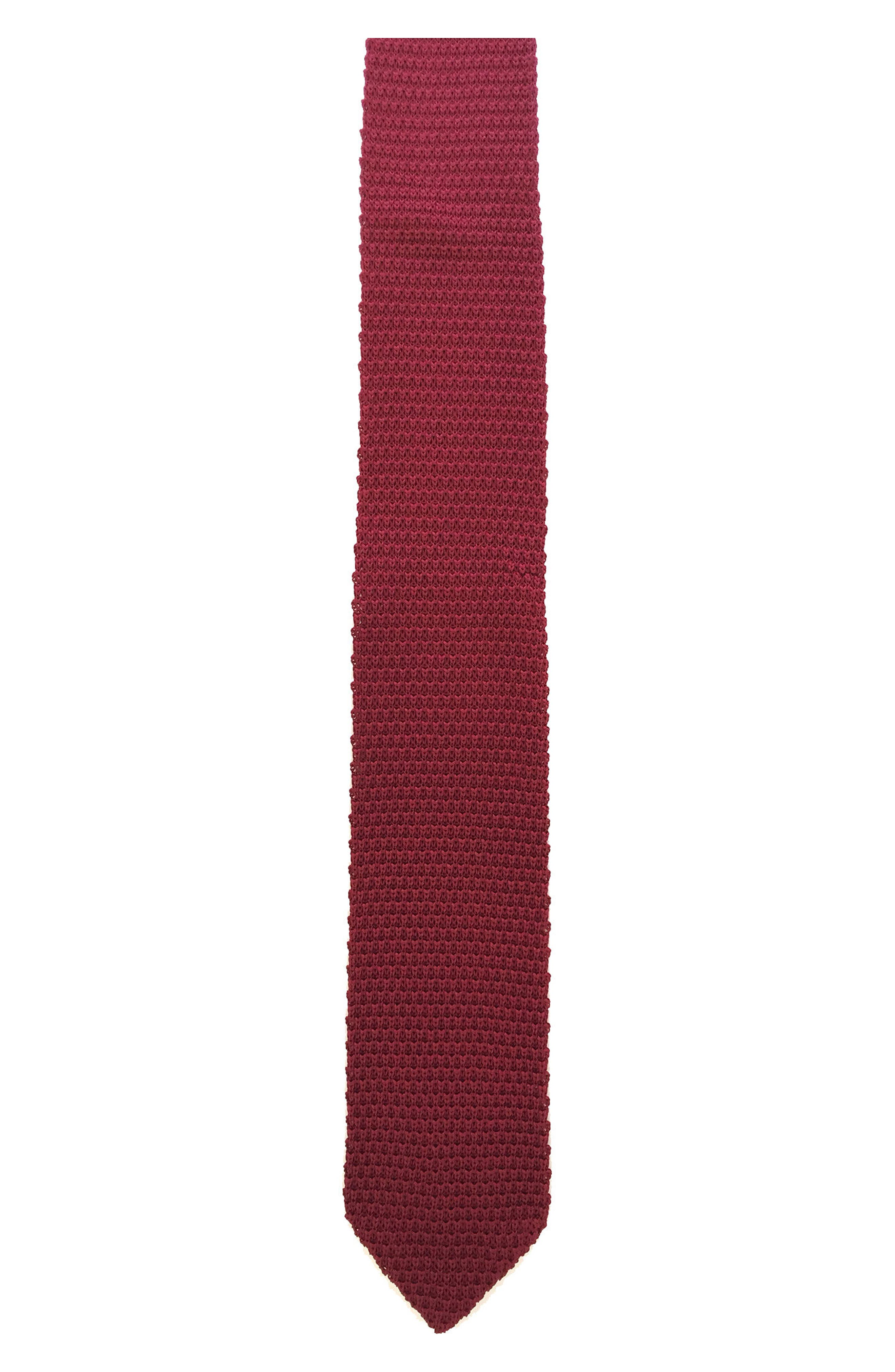 hook + ALBERT Solid Staple Knit Silk Tie