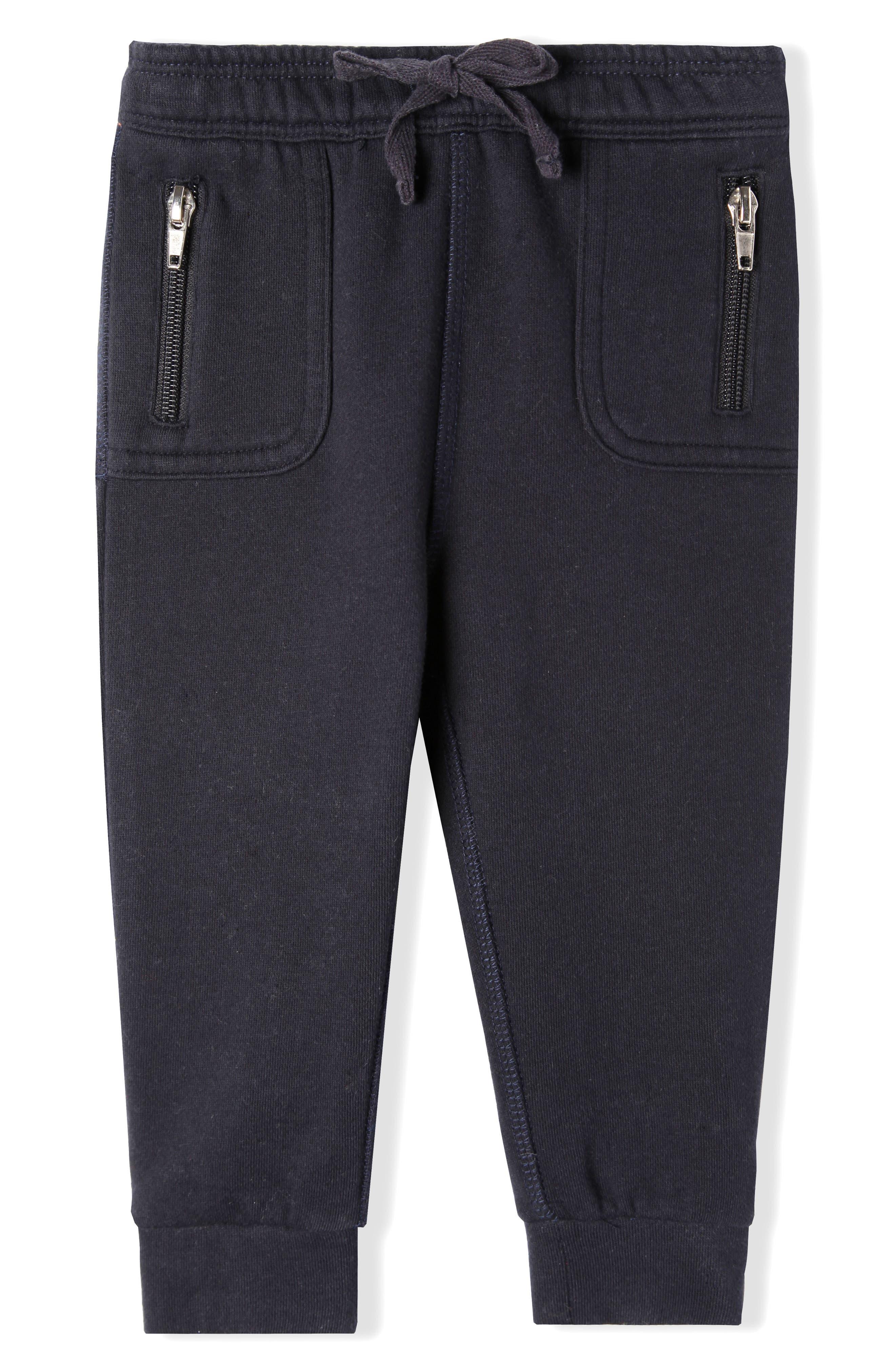 Mercer Organic Cotton Jogger Pants,                             Main thumbnail 1, color,                             True Navy