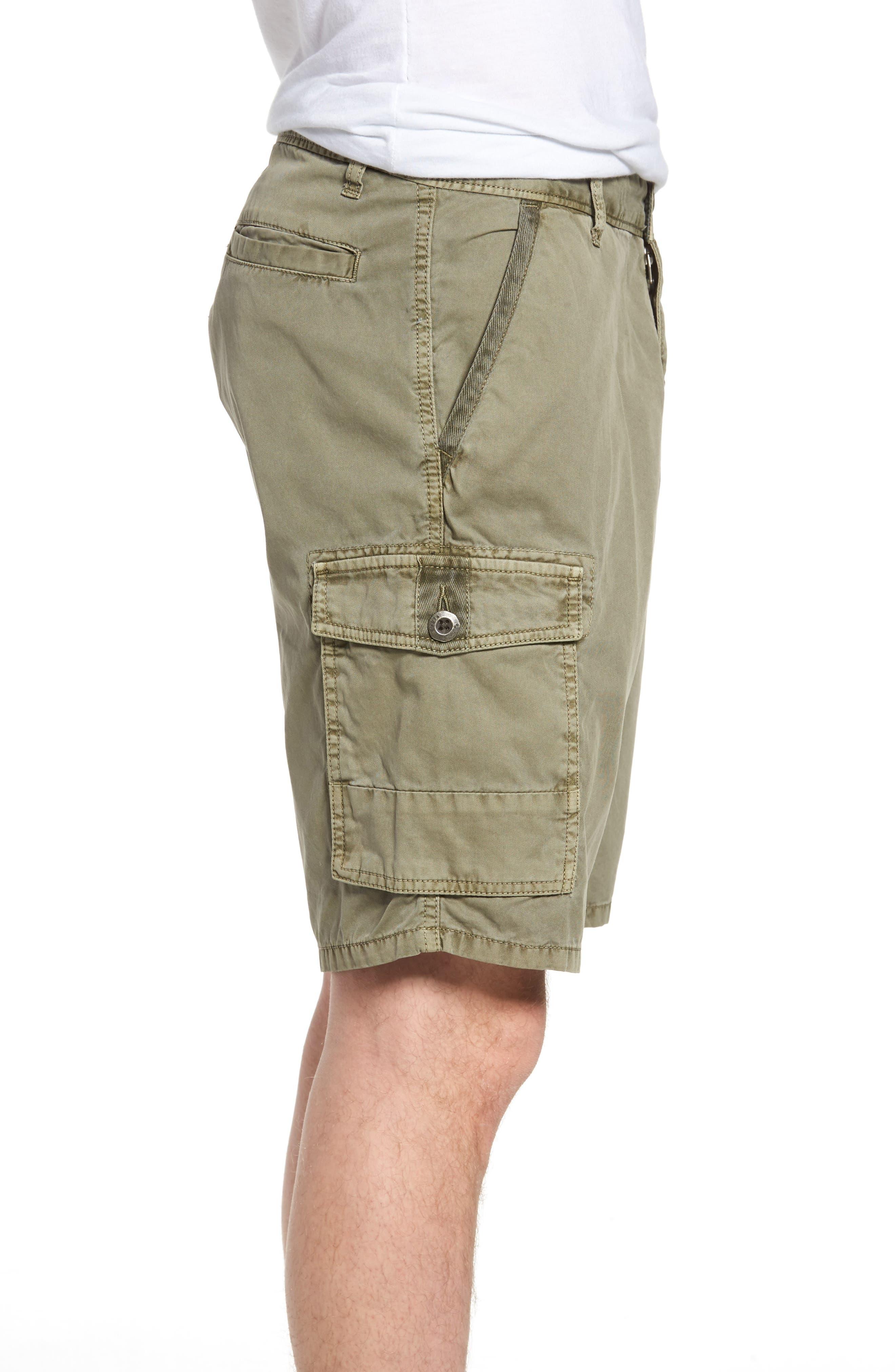 'Newport' Cargo Shorts,                             Alternate thumbnail 3, color,                             Olive