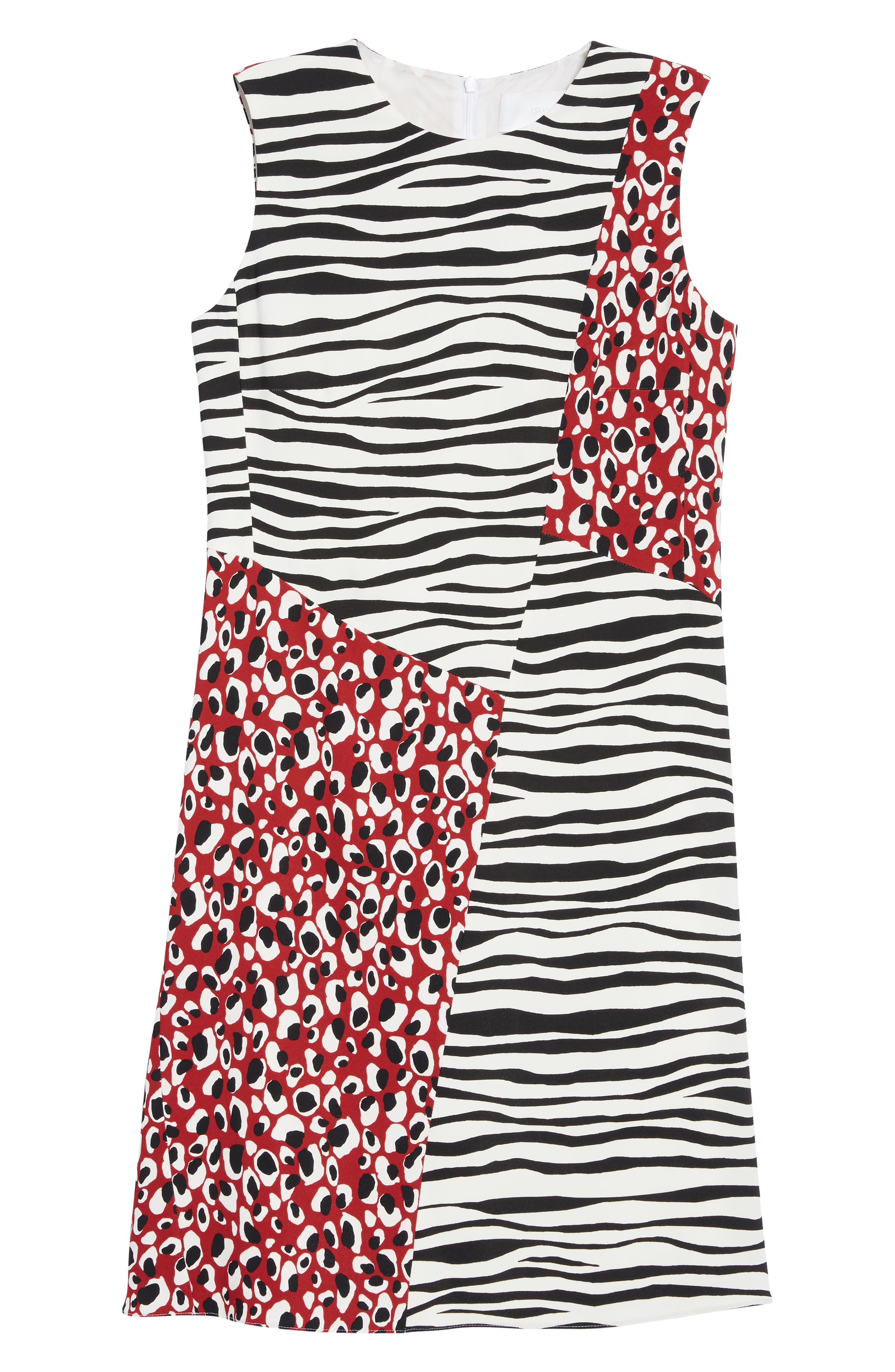 Alternate Image 6  - BOSS Diseba Animal Print Sheath Dress