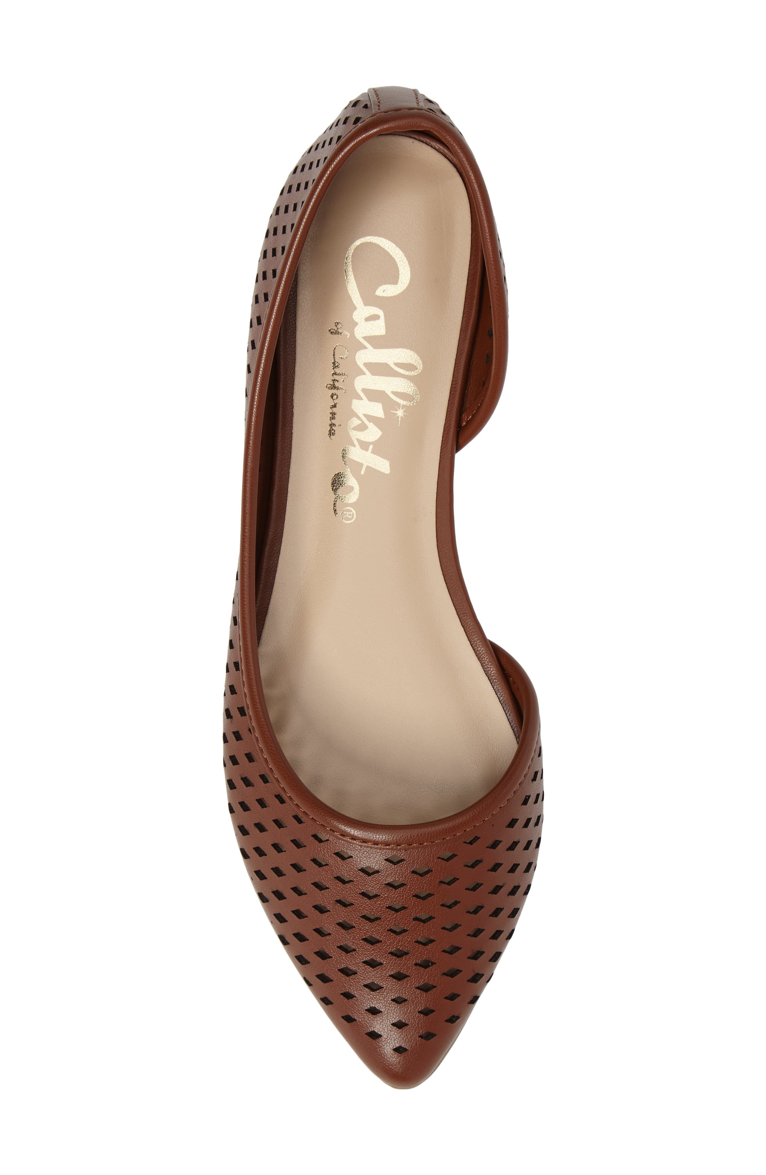 Swiftye Half d'Orsay Flat,                             Alternate thumbnail 5, color,                             Tan Synthetic Leather