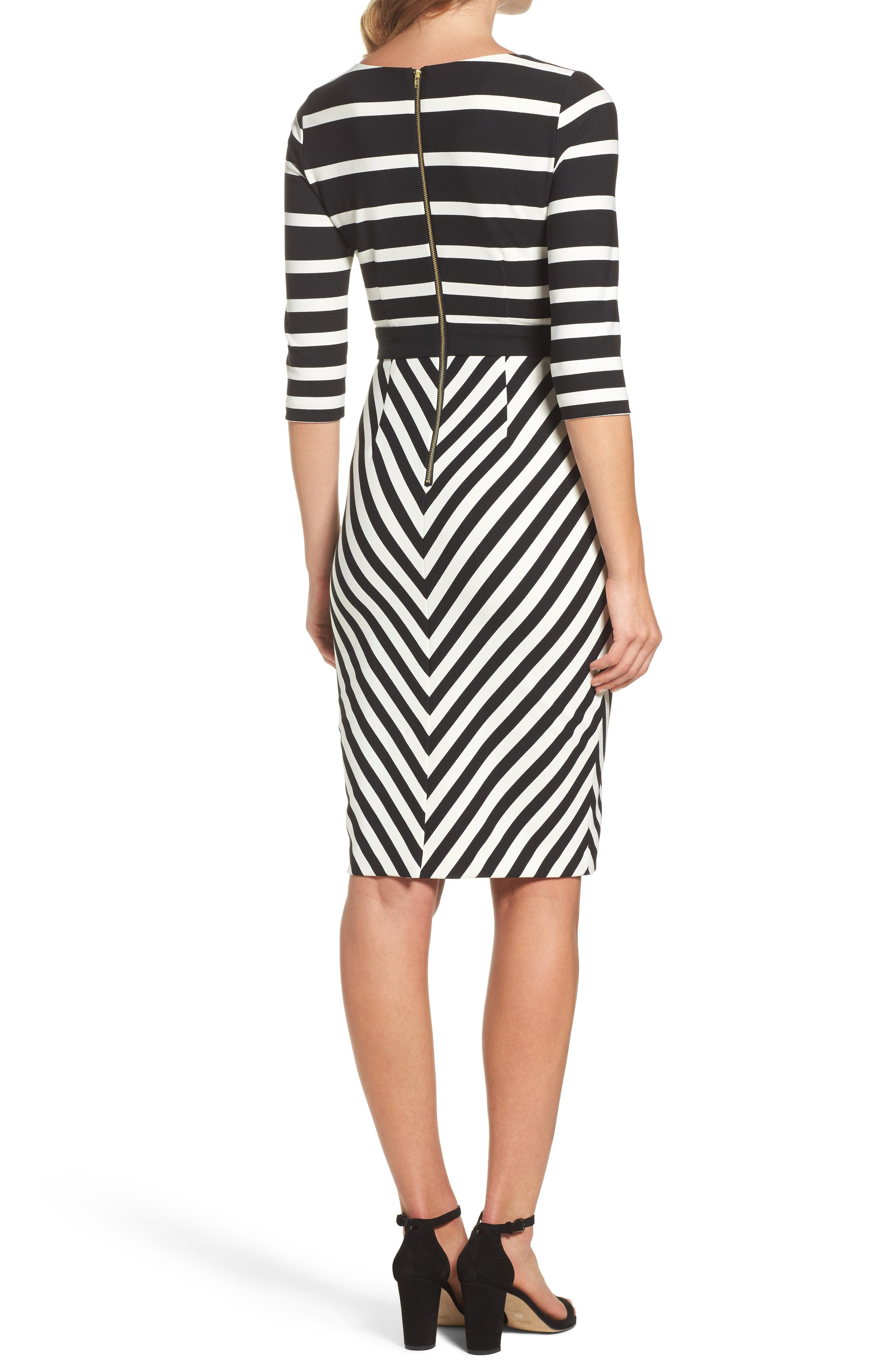Alternate Image 2  - Gabby Skye Stripe Sheath Dress