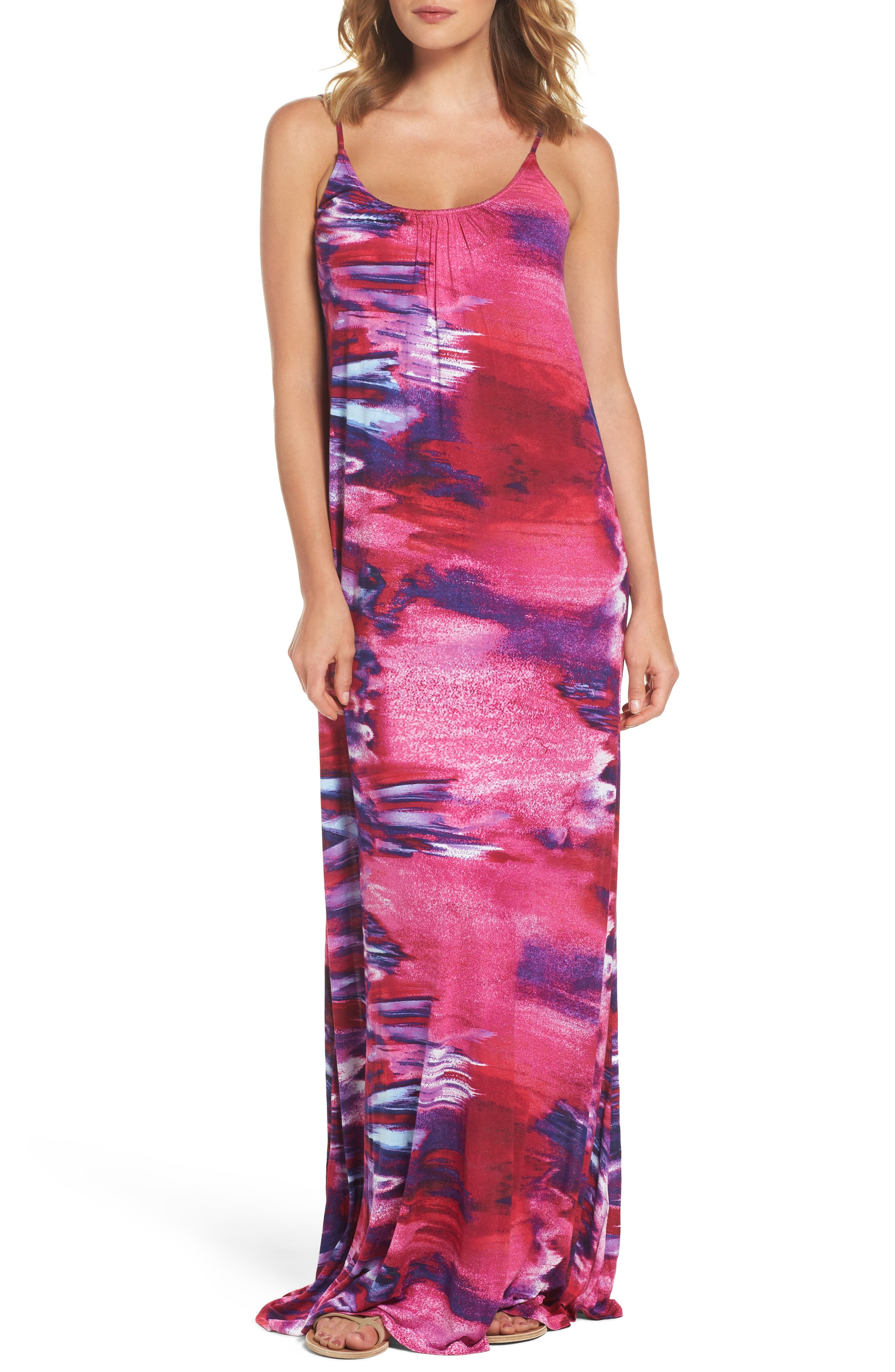 FELICITY & COCO Print Jersey A-Line Maxi Dress