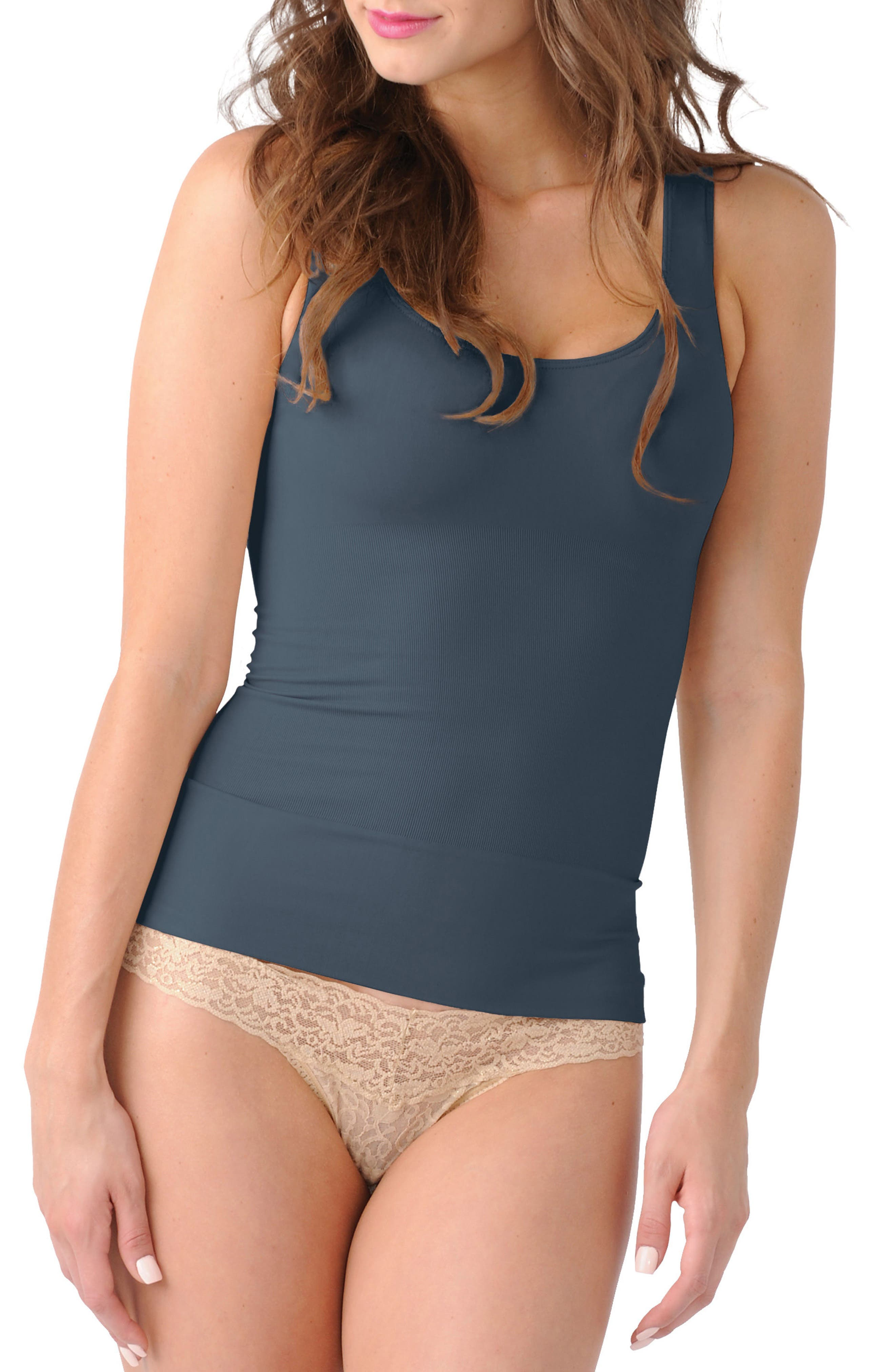 Mother Tucker<sup>™</sup> Scoop Neck Compression Tank,                             Main thumbnail 1, color,                             Grey