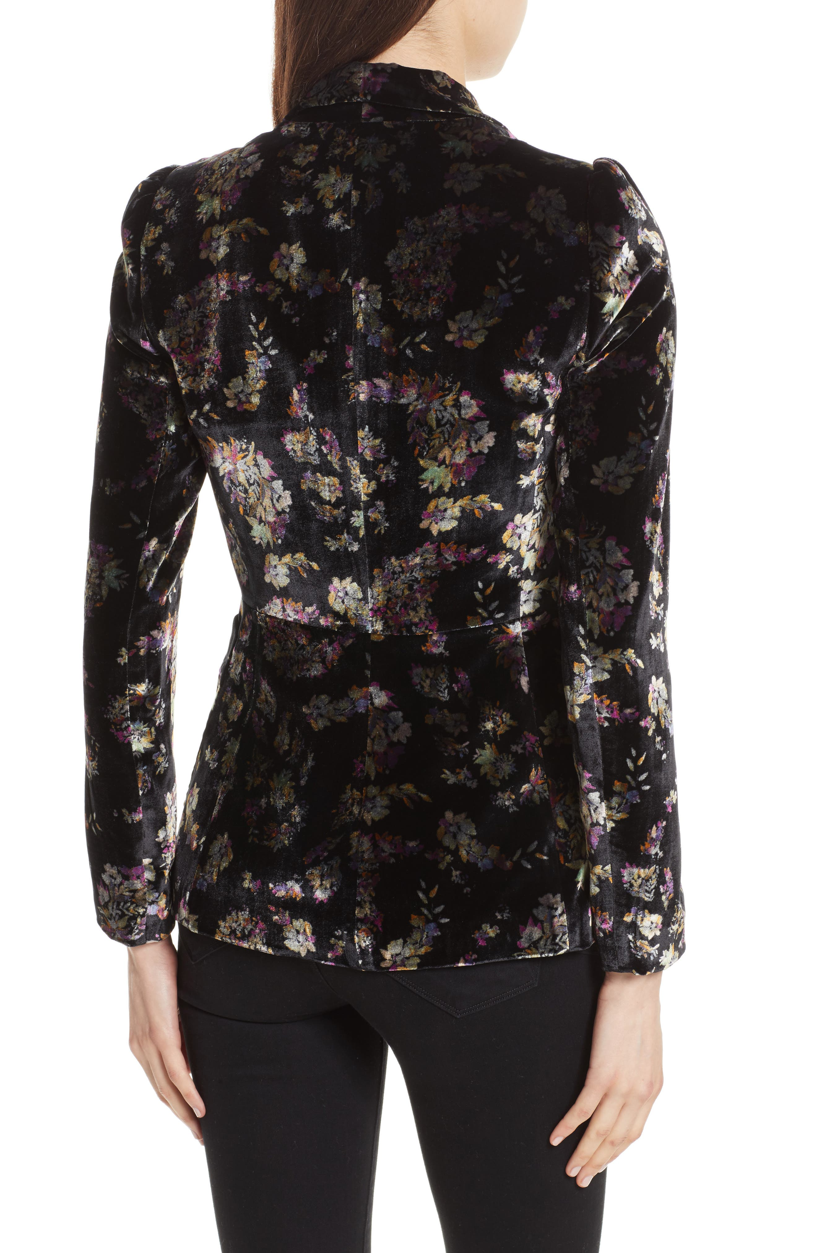 Alternate Image 2  - Rebecca Taylor Jewel Velvet Blazer