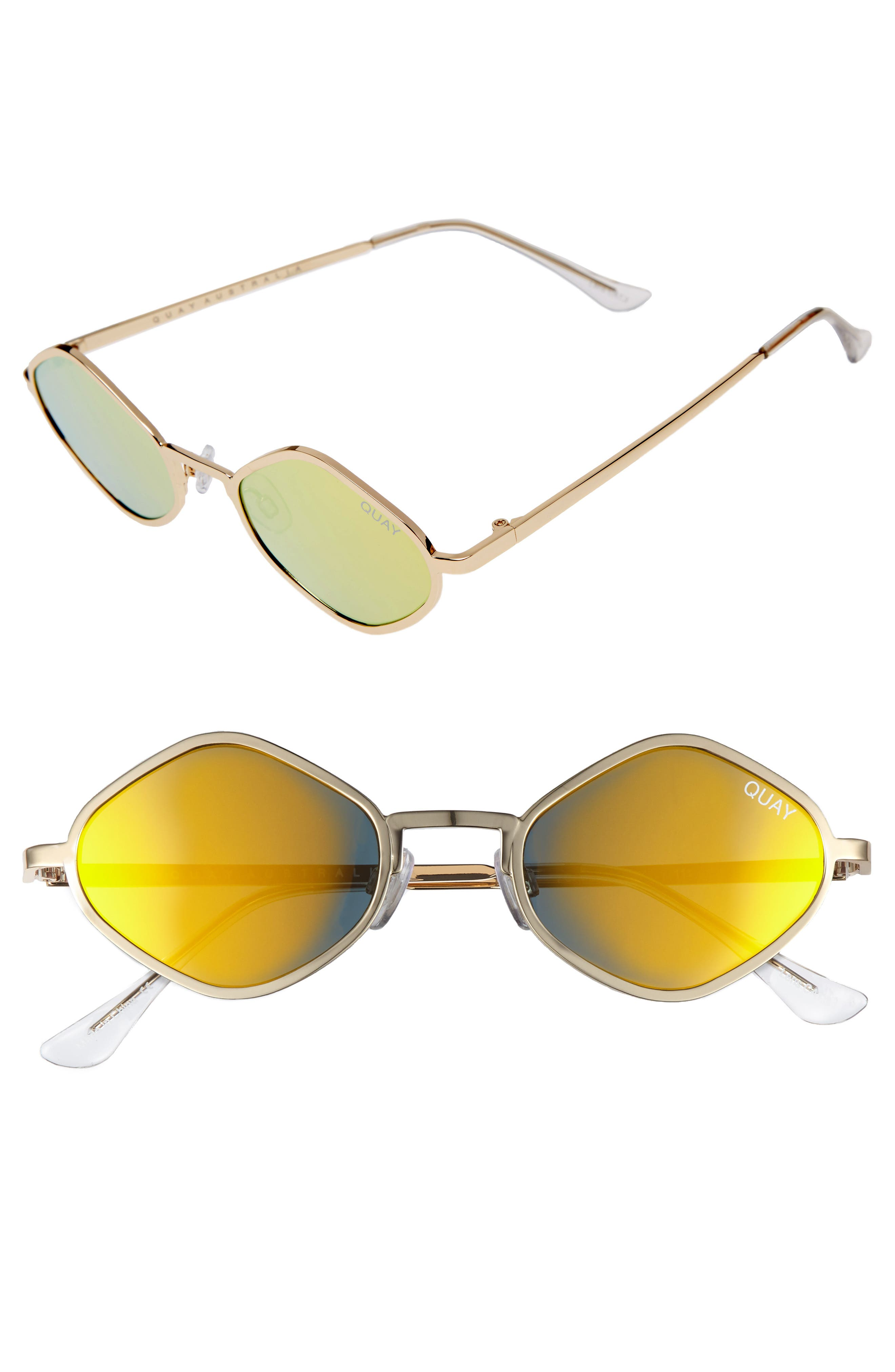 Main Image - #QUAYxKYLIE Purple Honey 48mm Geo Sunglasses
