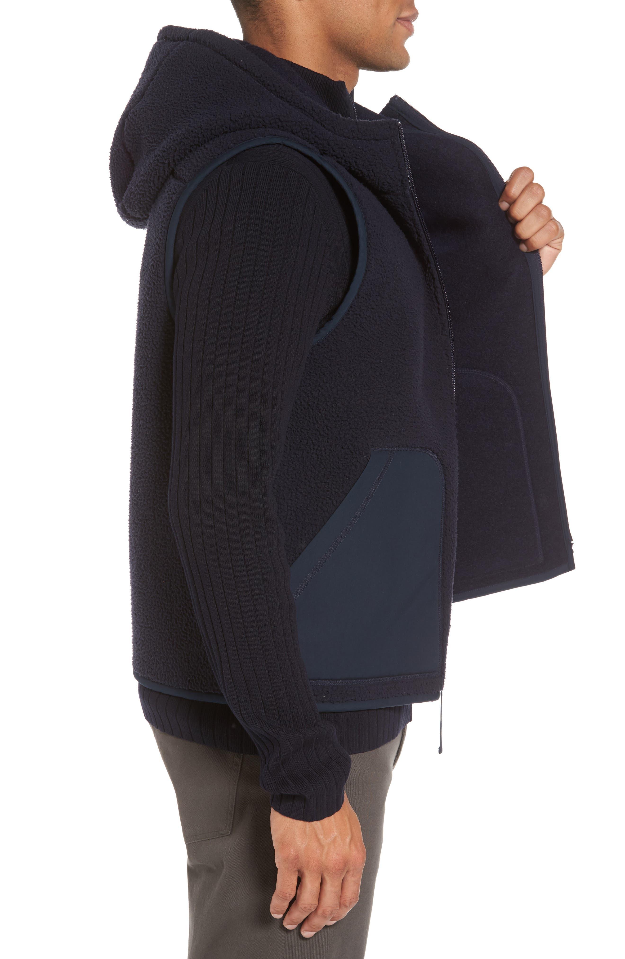 Alternate Image 3  - Vince Reversible Hooded Faux Shearling Vest
