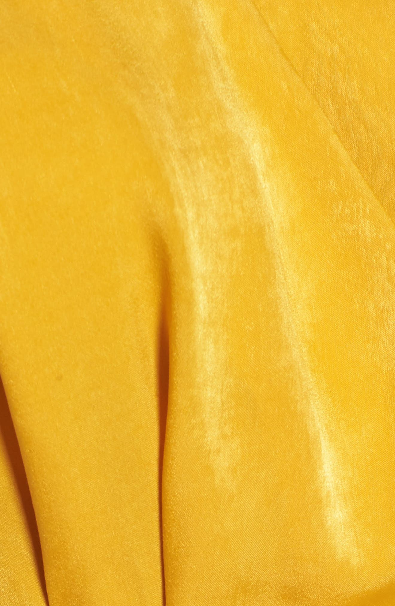 Satin Wrap Top,                             Alternate thumbnail 6, color,                             Mustard