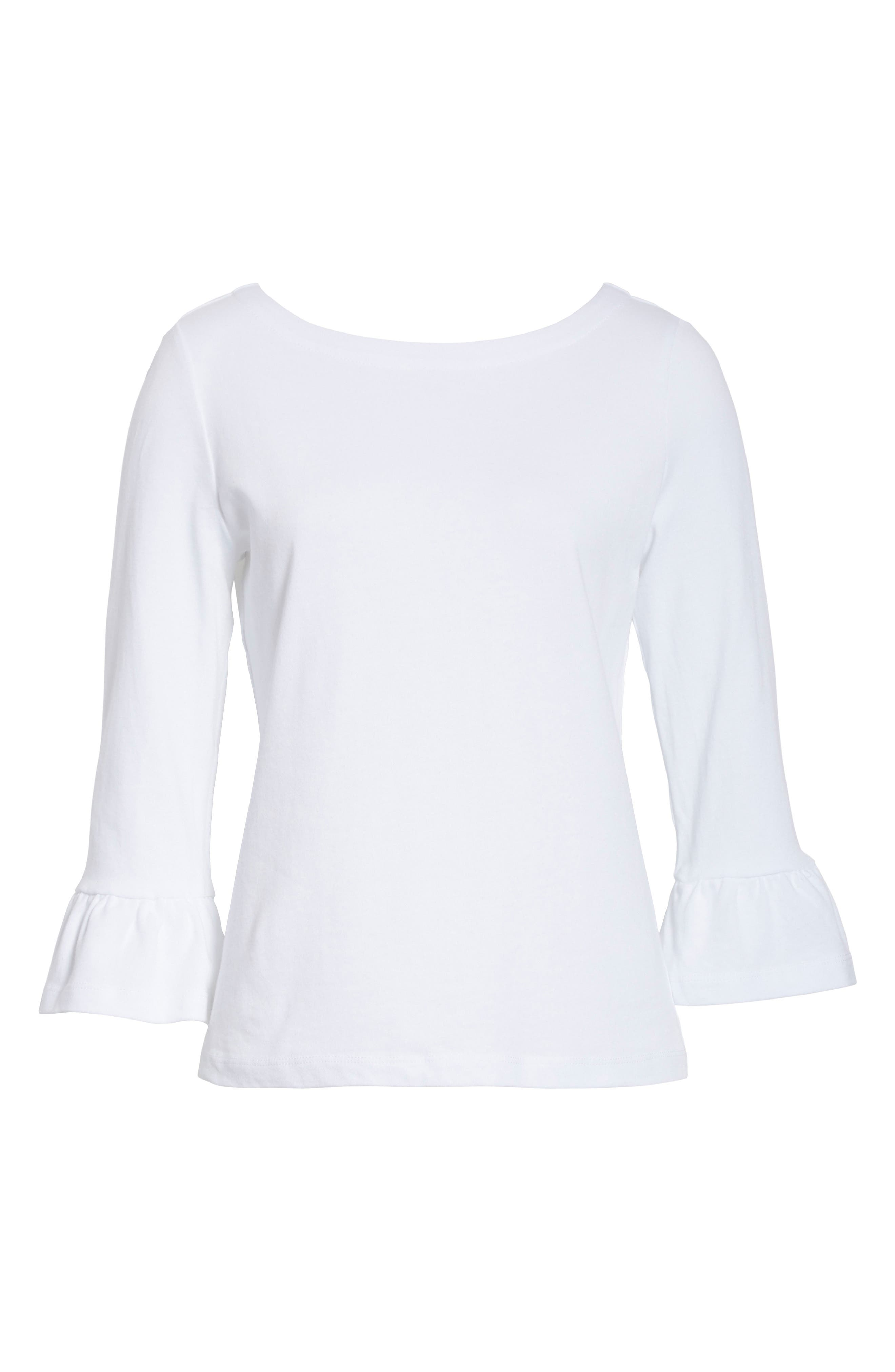 Alternate Image 6  - kate spade new york flounce sleeve knit top