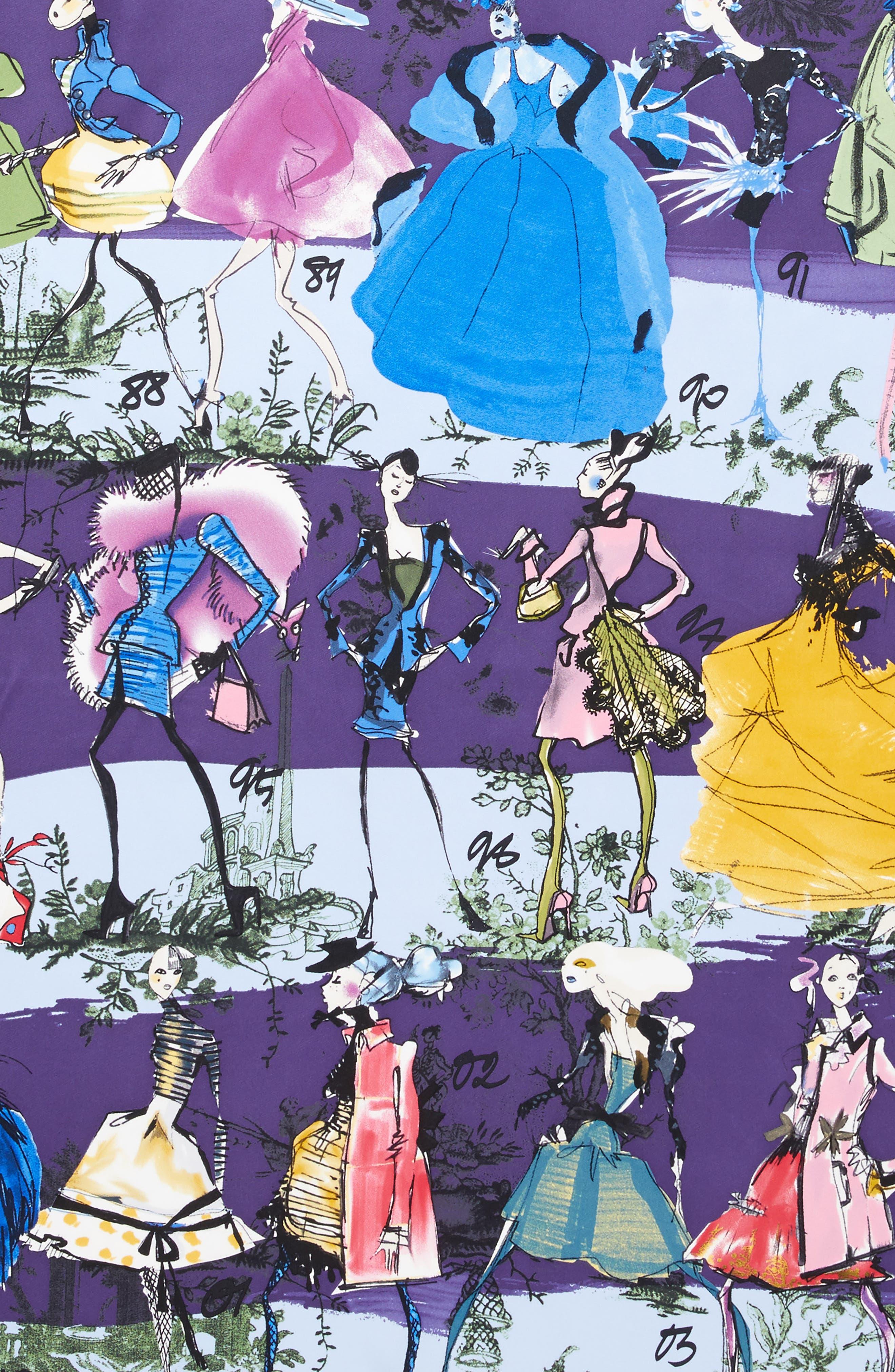 '20 Ans' Square Silk Scarf,                             Alternate thumbnail 4, color,                             Light Blue