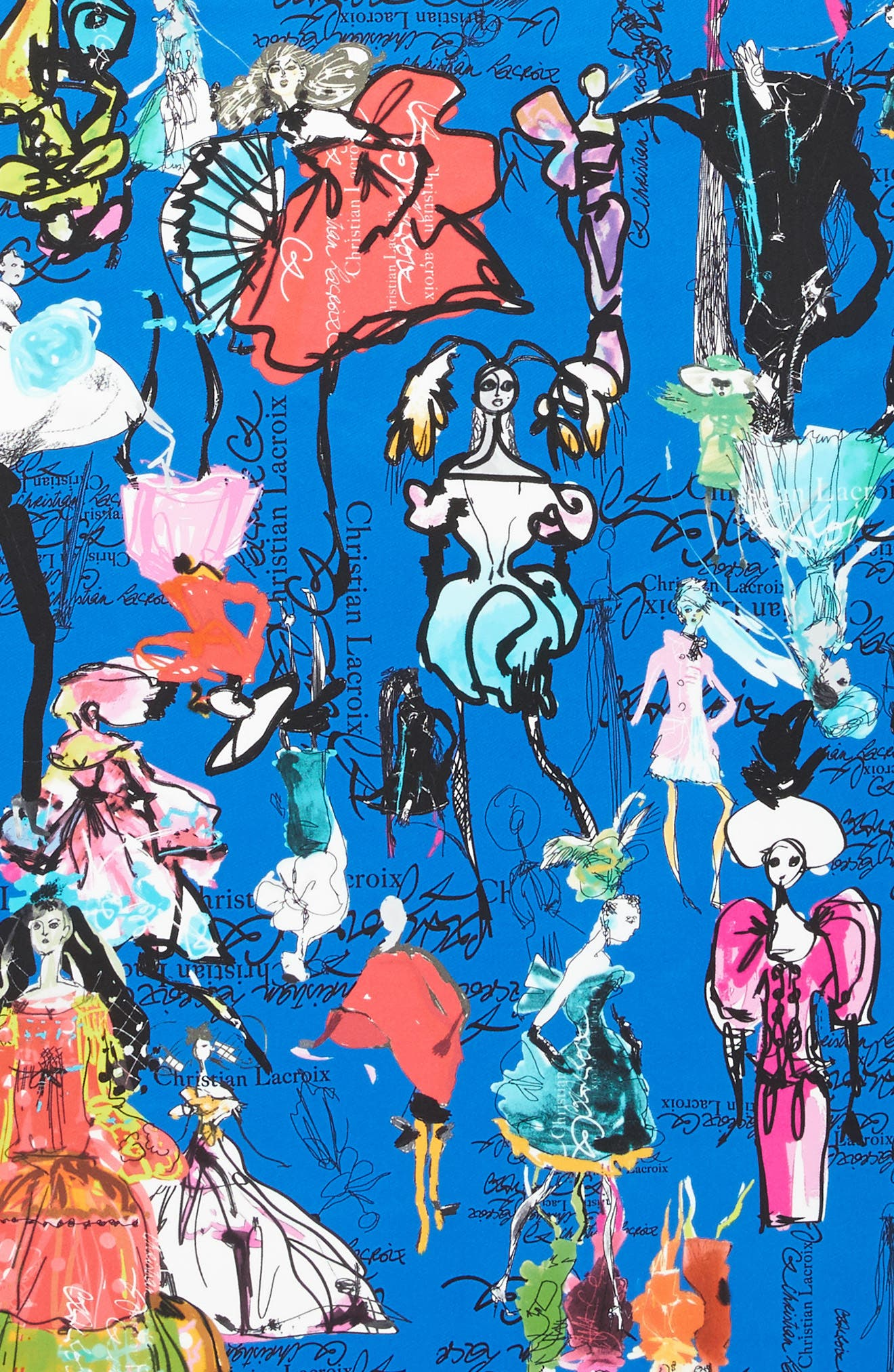 Alternate Image 4  - Christian Lacroix Croquis Silk Square Scarf