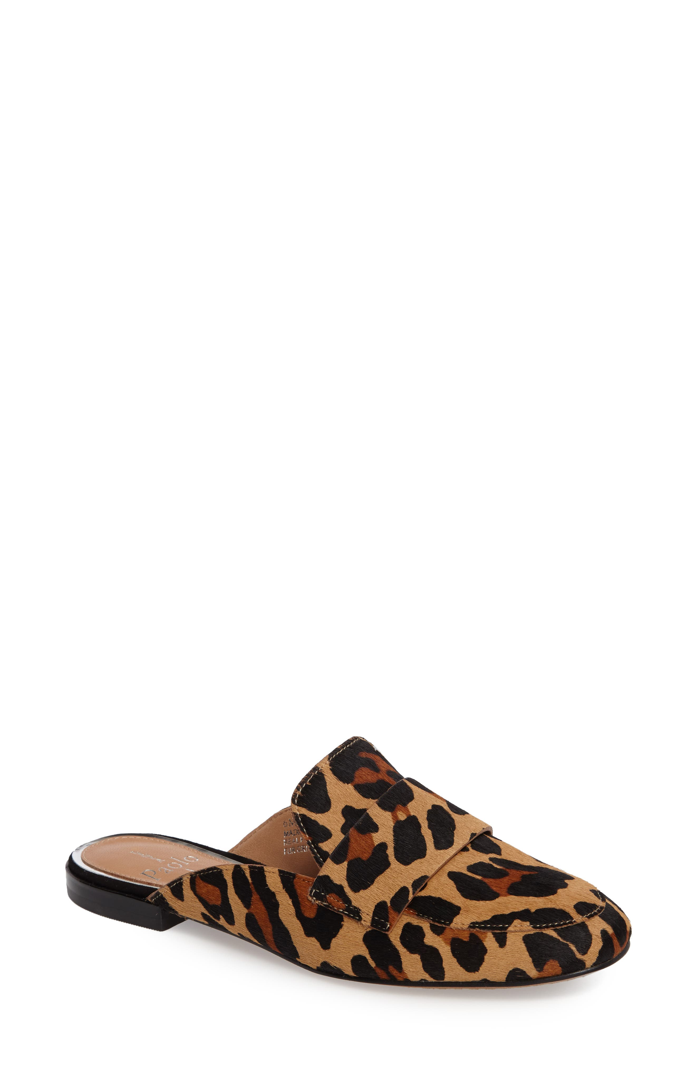 Alternate Image 1 Selected - Linea Paolo Annie Genuine Calf Hair Loafer Mule (Women)
