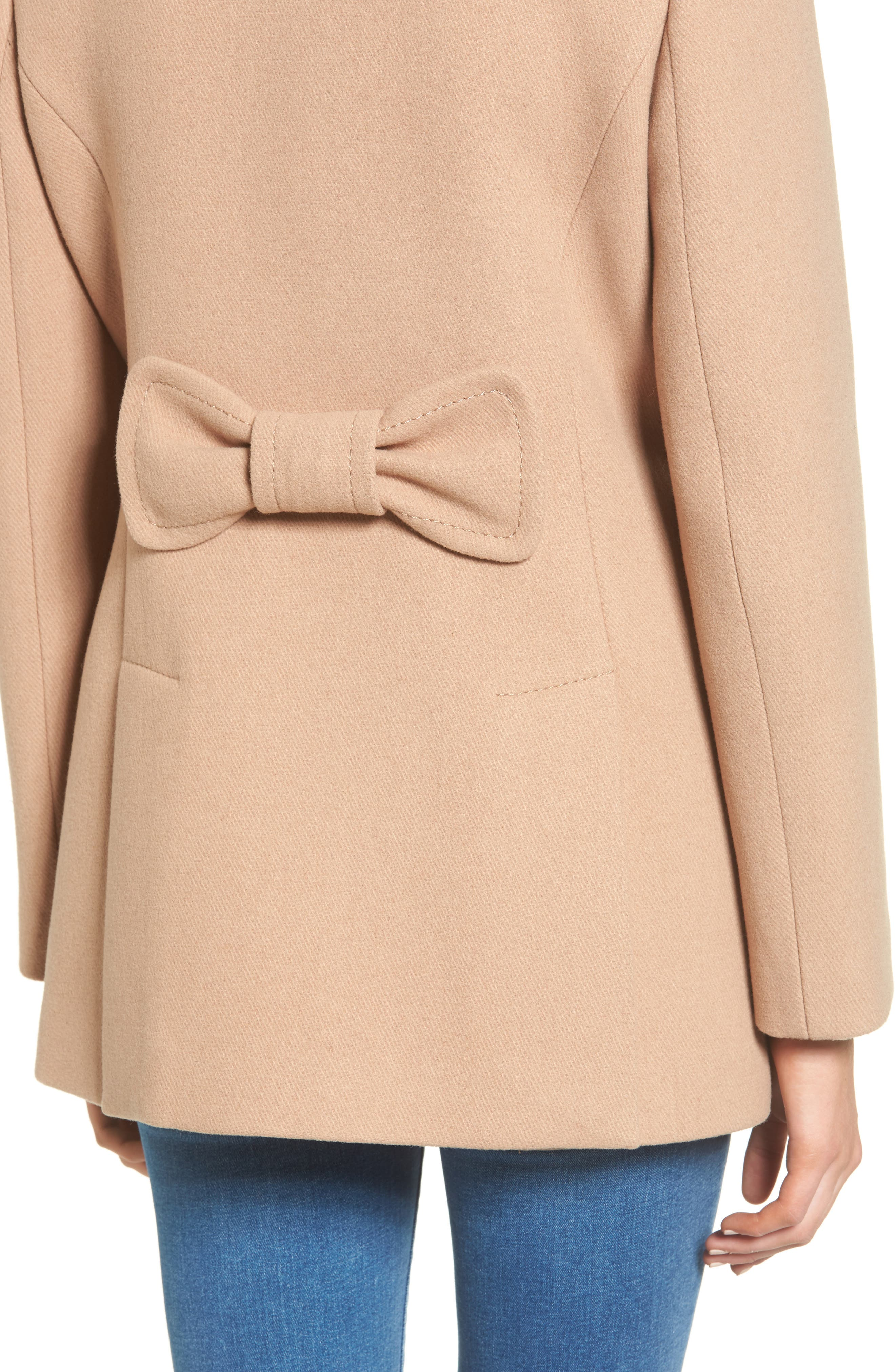 Alternate Image 4  - kate spade new york wool blend peacoat