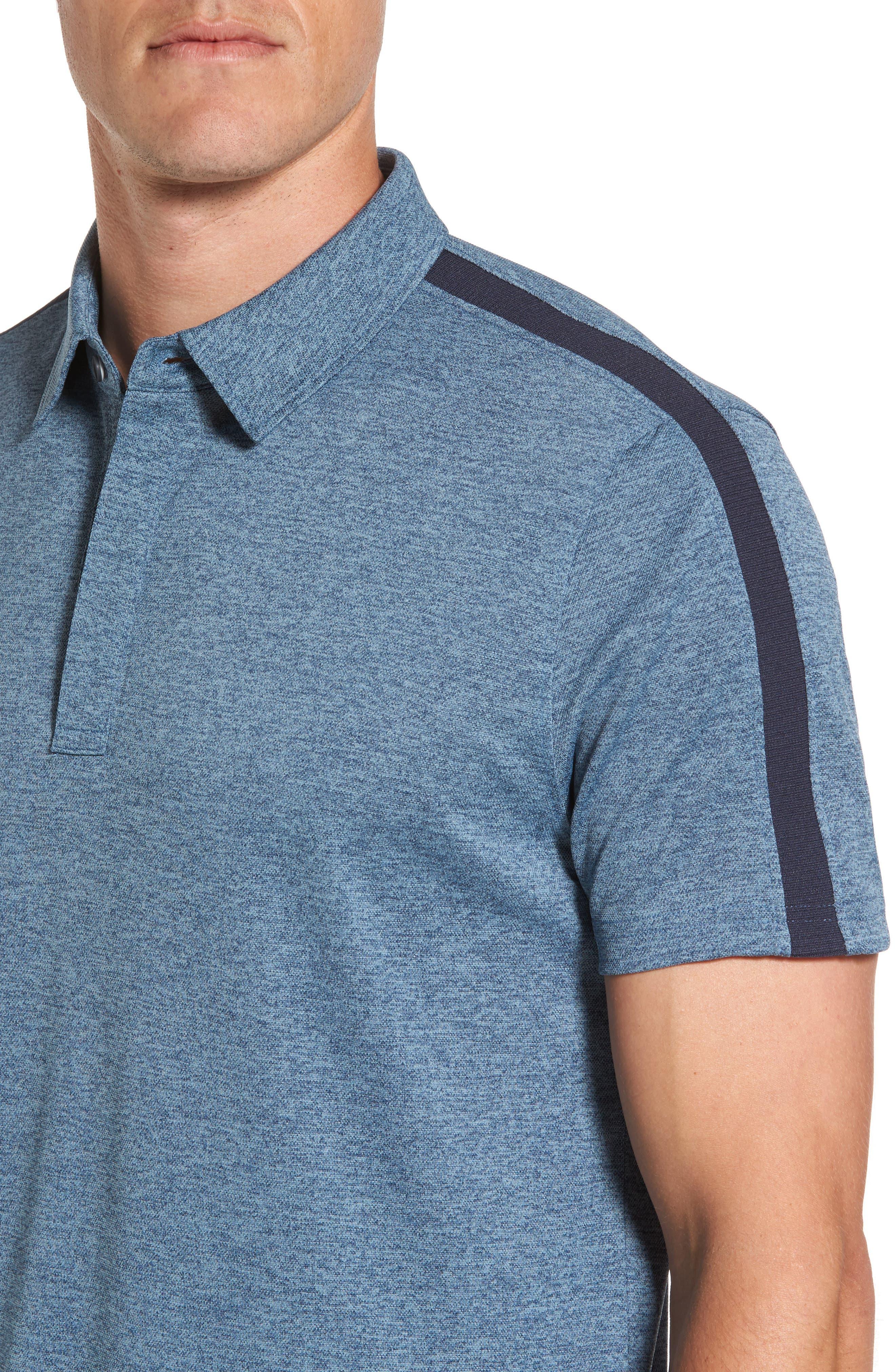 Alternate Image 4  - AG Felton Shoulder Stripe Polo