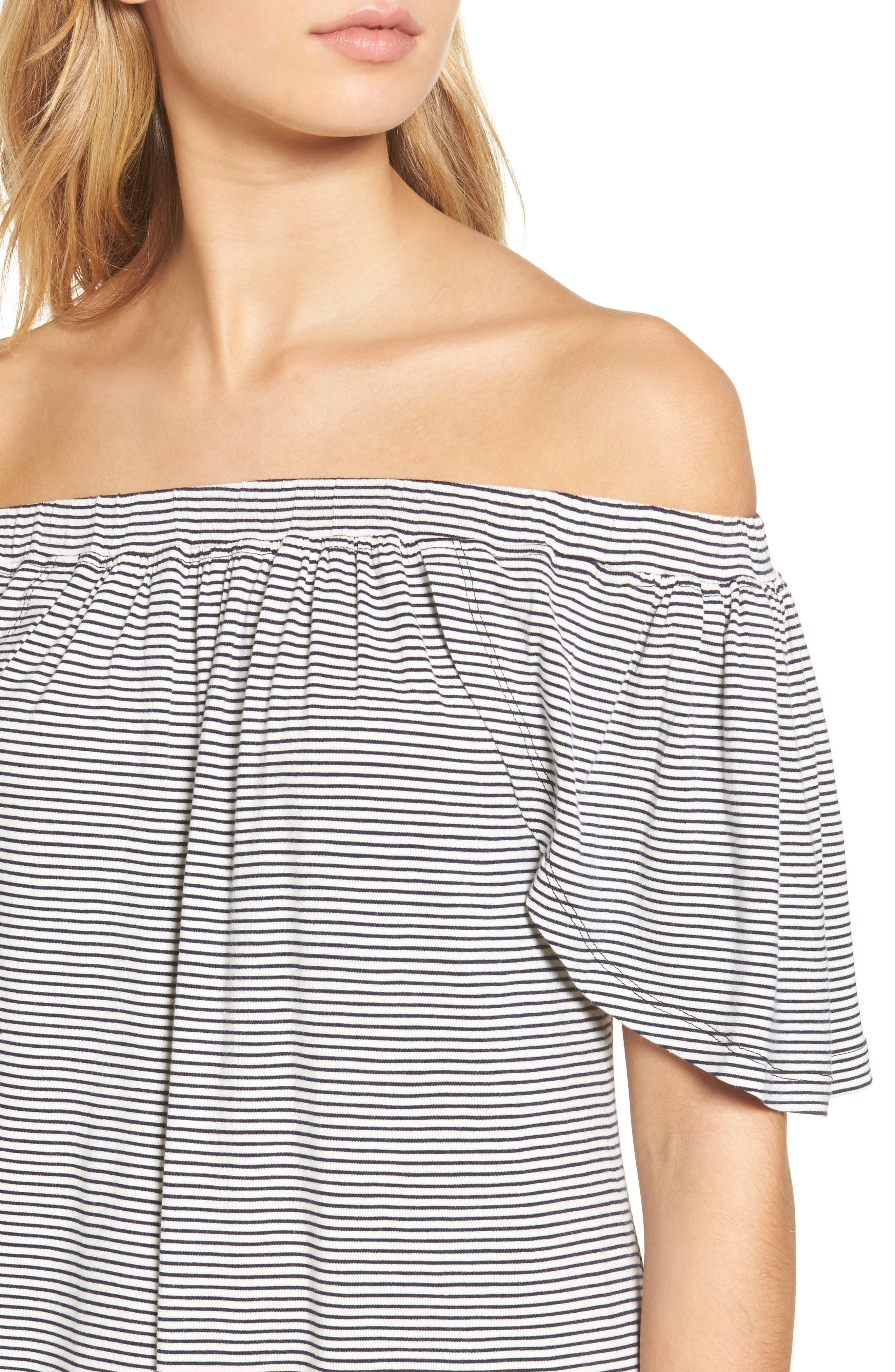 Alternate Image 4  - Delacy Marley Off the Shoulder Minidress