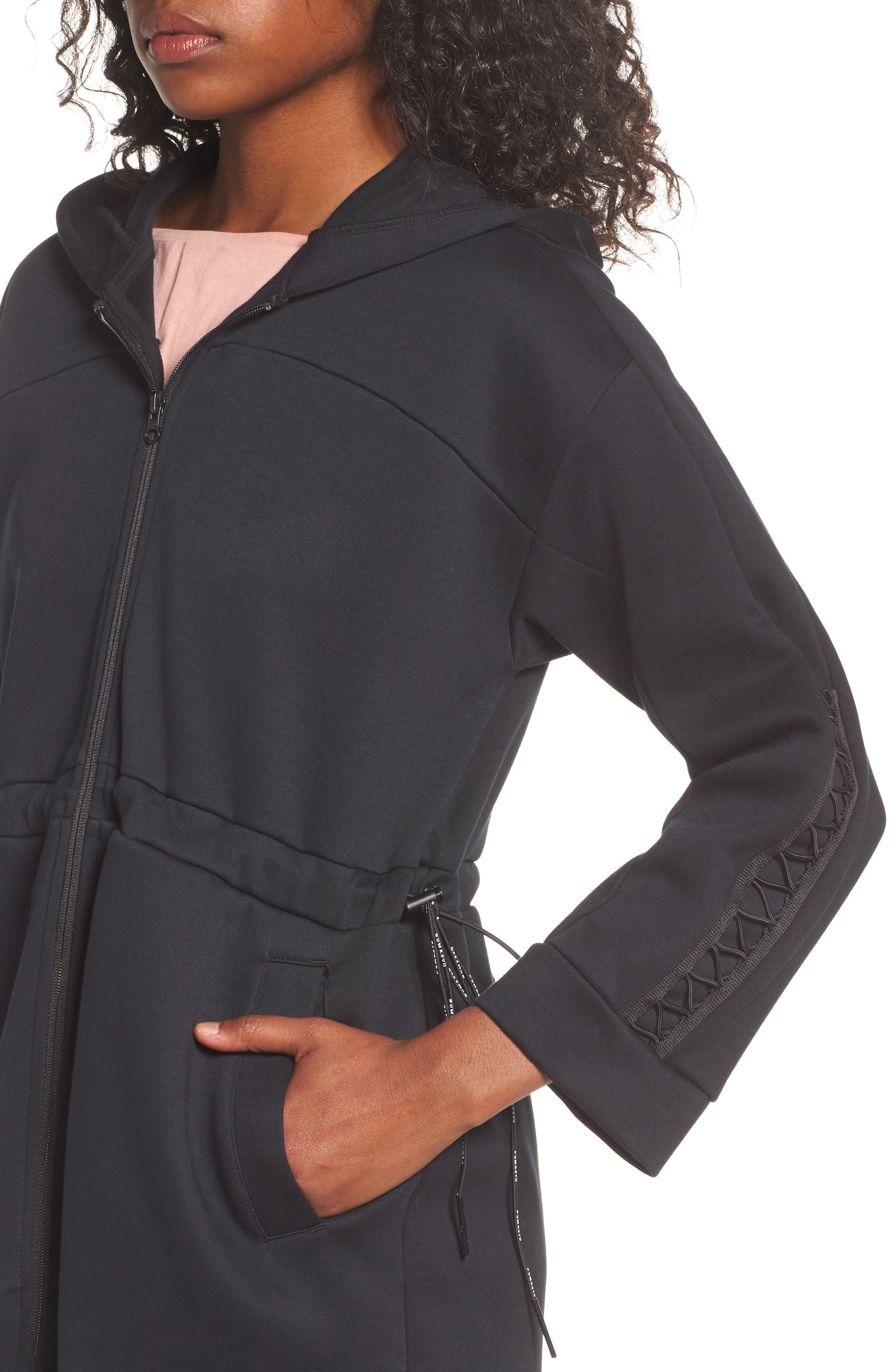Lacing Midlayer Jacket,                             Alternate thumbnail 4, color,                             Puma Black