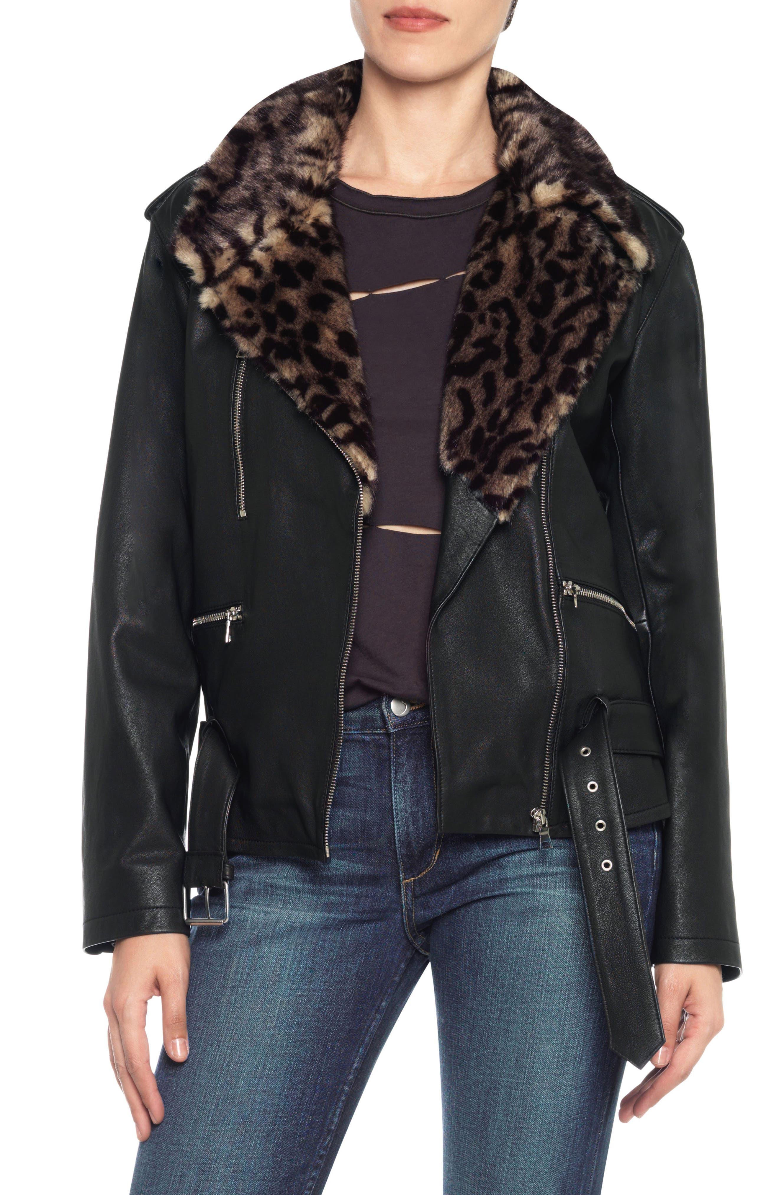 Main Image - Joe's Riley Leather Biker Jacket