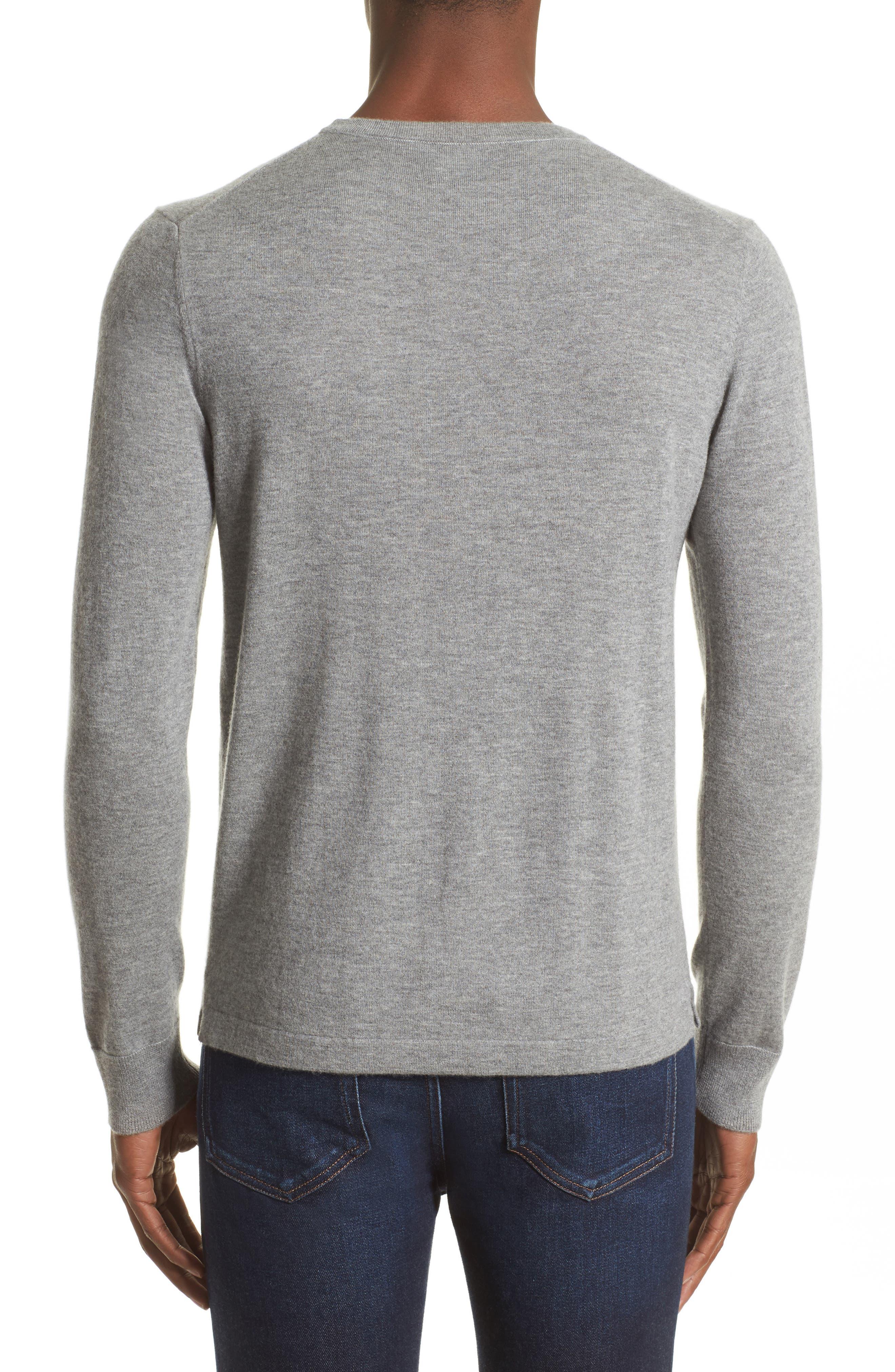 Cashmere Pocket T-Shirt,                             Alternate thumbnail 2, color,                             Grey Heather