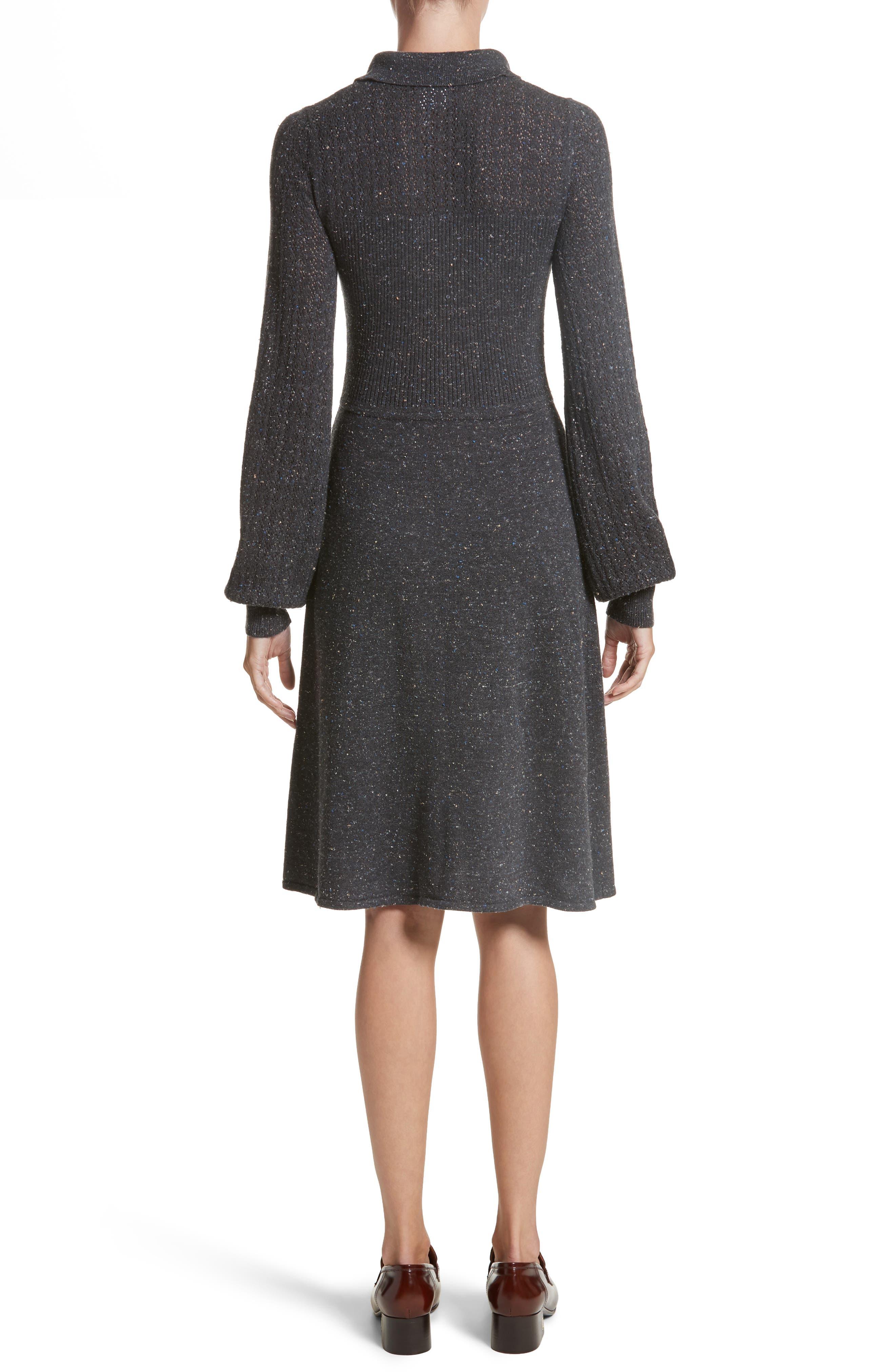 Knit Sweater Dress,                             Alternate thumbnail 2, color,                             Dark Grey