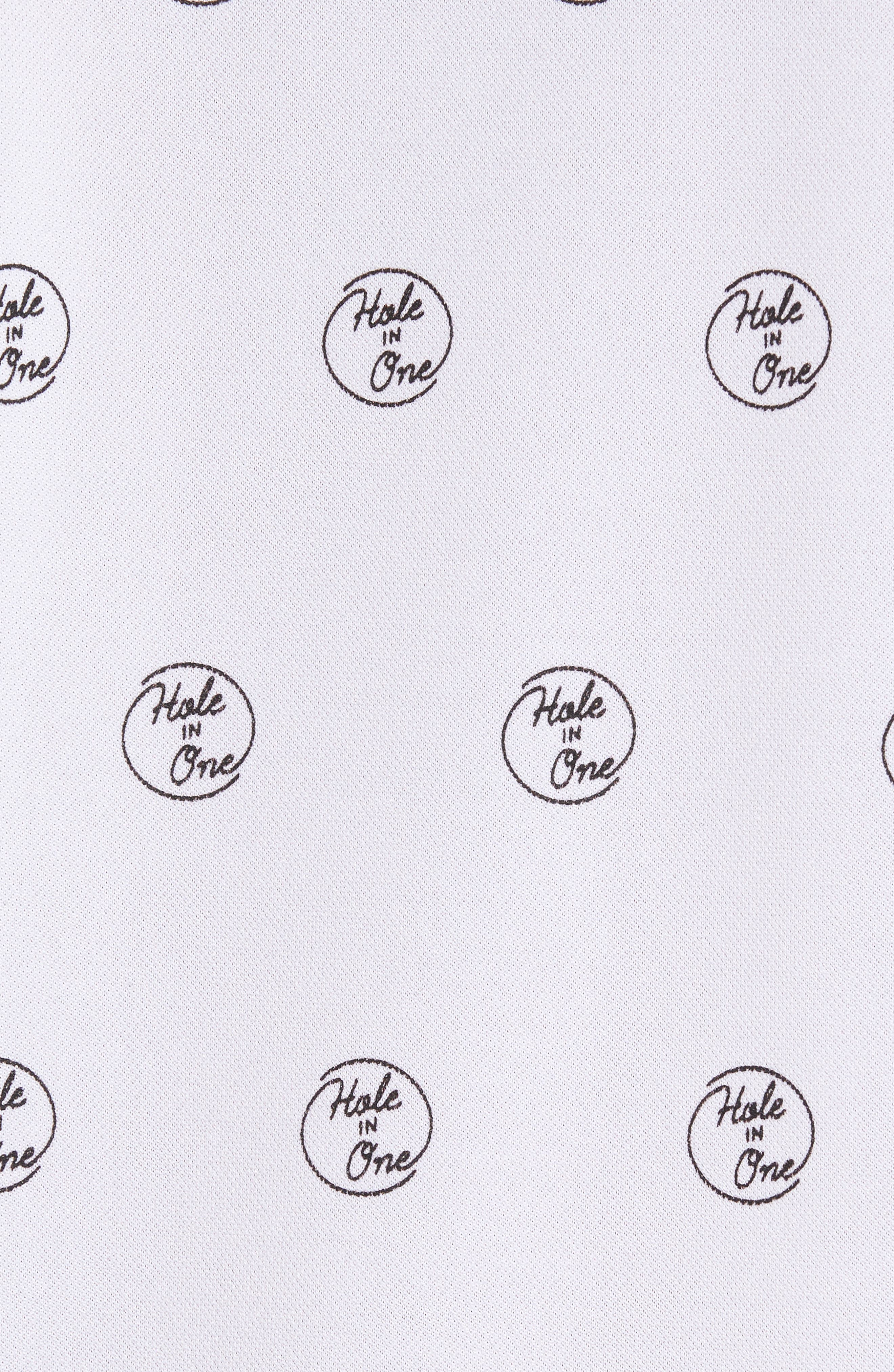 Hole in One Print Polo,                             Alternate thumbnail 5, color,                             Hole In One Print