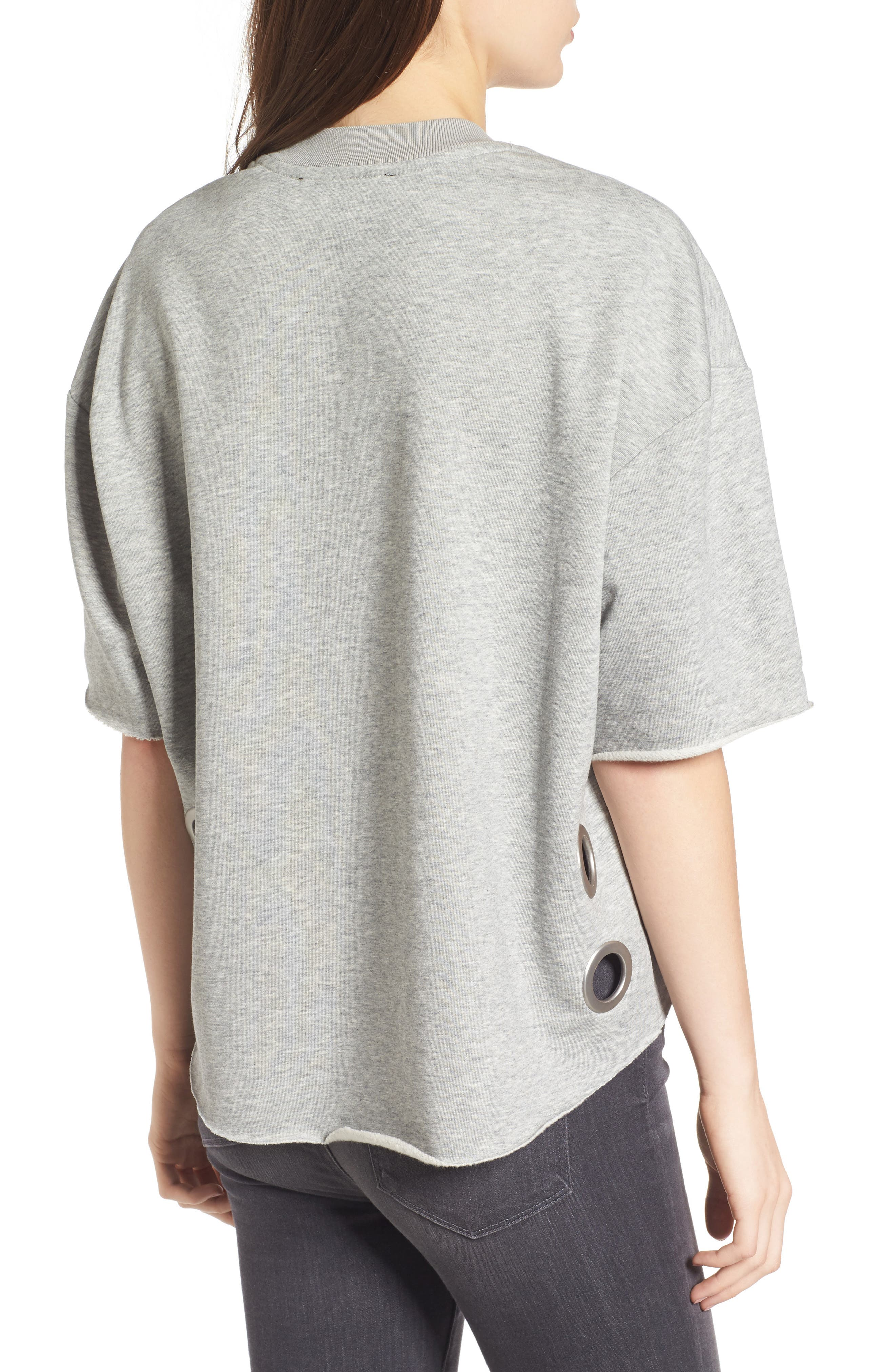 Grommet Pullover,                             Alternate thumbnail 2, color,                             Medium Heather Grey