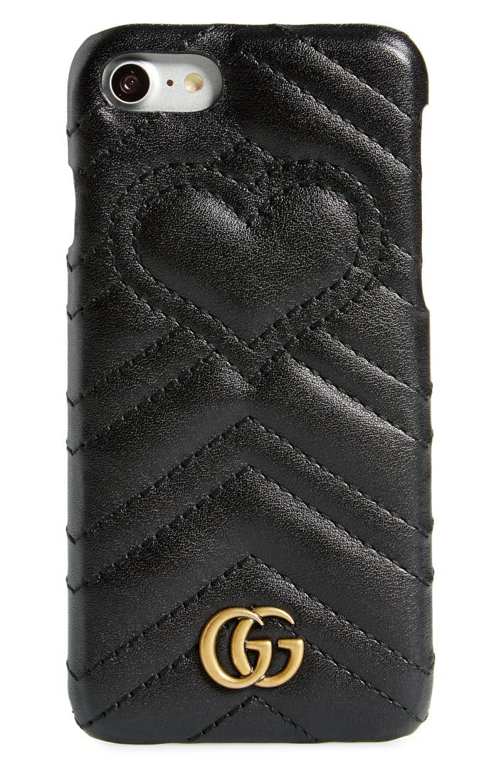 gucci gg marmont leather iphone 7 case nordstrom. Black Bedroom Furniture Sets. Home Design Ideas