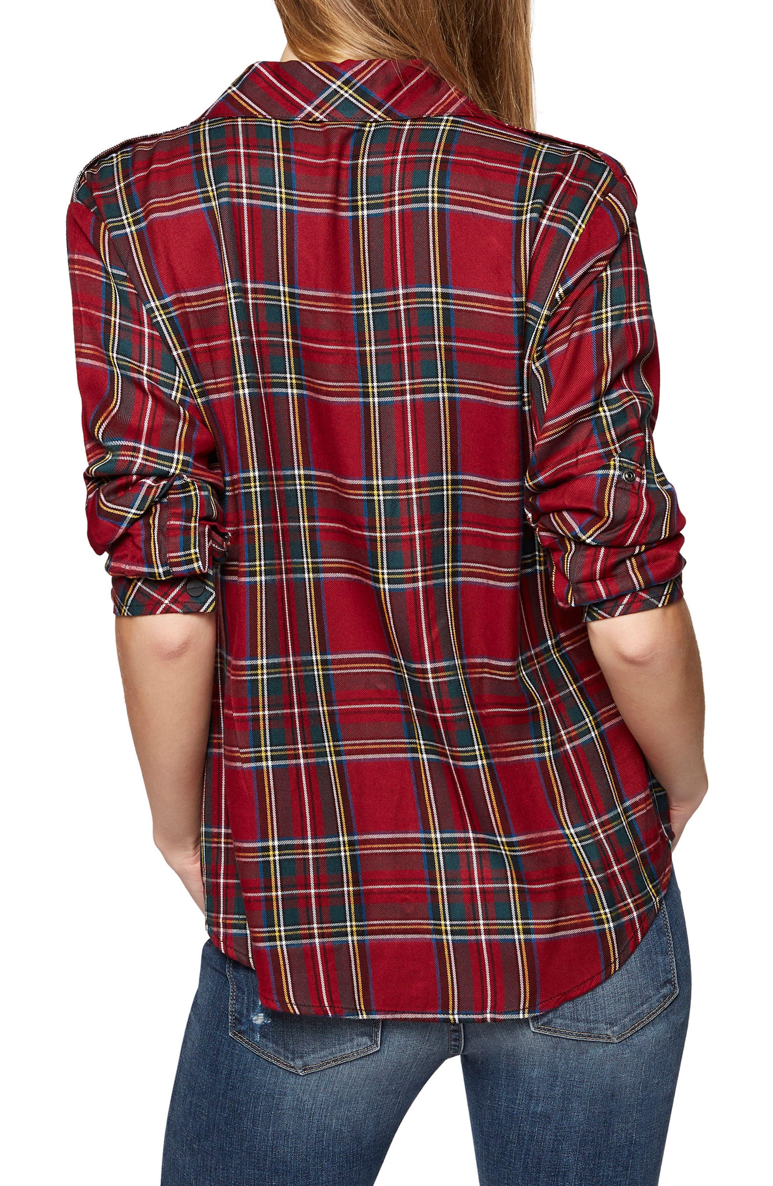 Plaid Boyfriend Shirt,                             Alternate thumbnail 2, color,                             Cable Tart Plaid