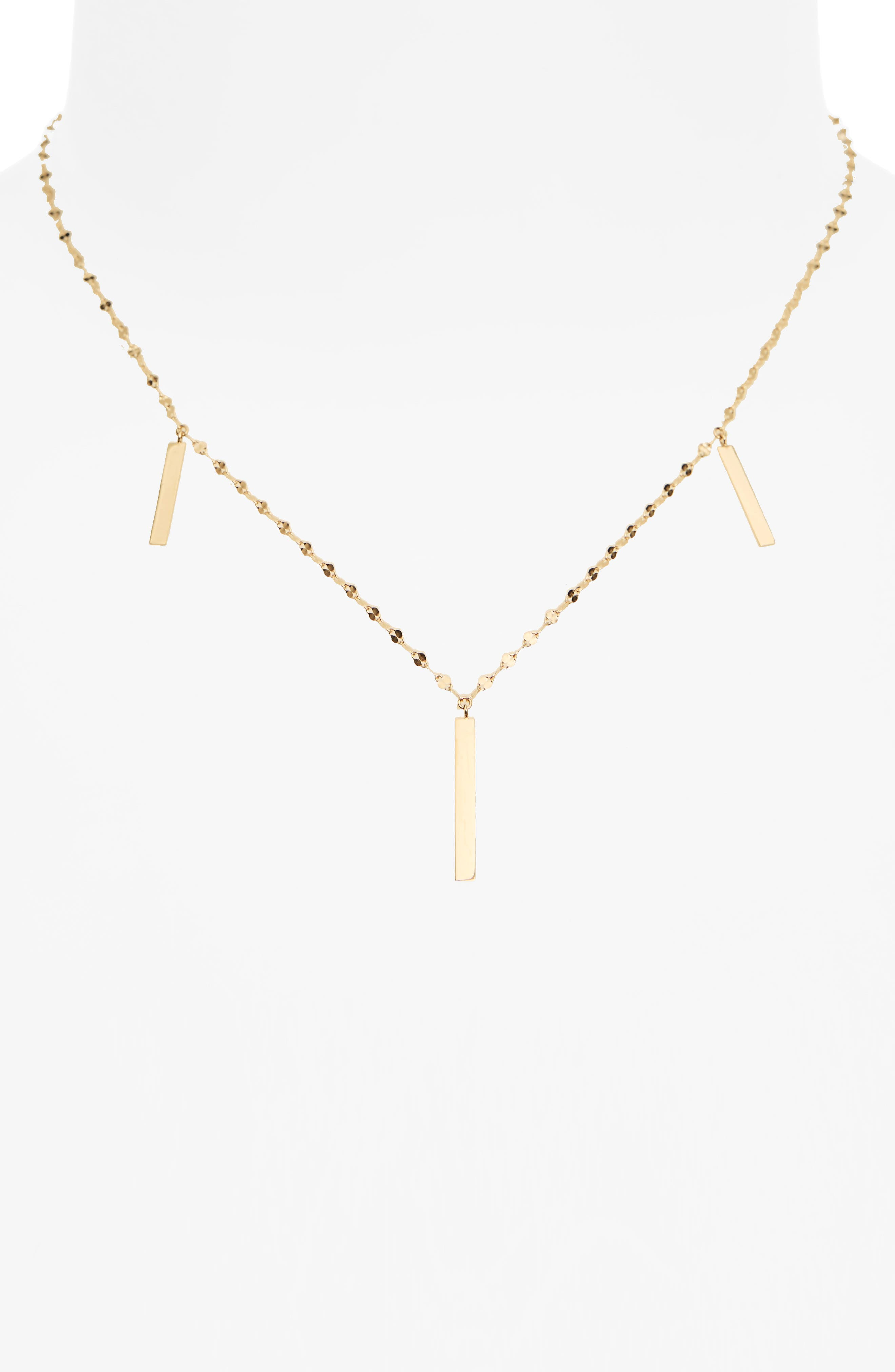 Station Necklace,                             Alternate thumbnail 3, color,                             Yellow Gold