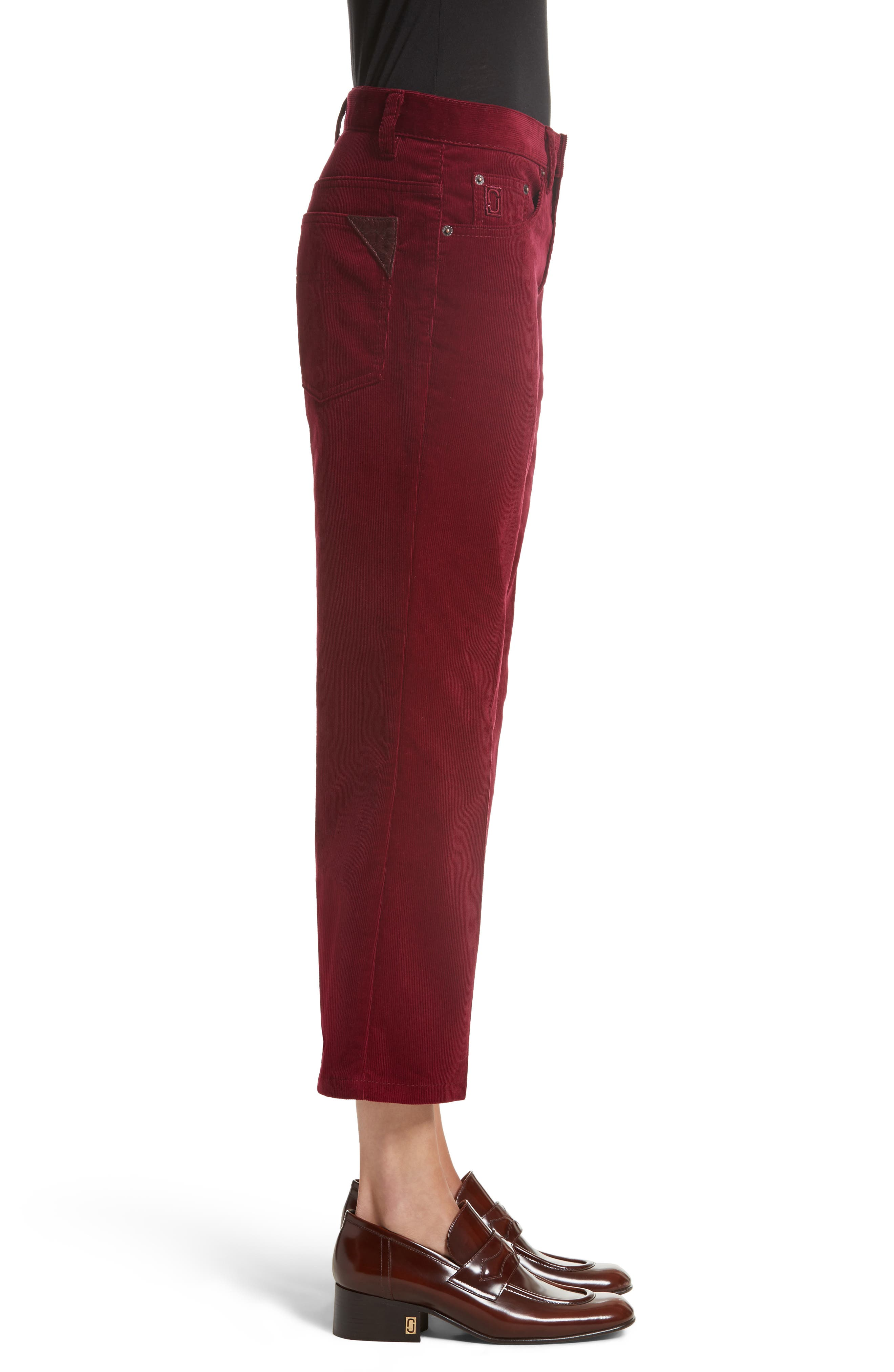 Alternate Image 3  - MARC JACOBS Crop Flare Corduroy Pants