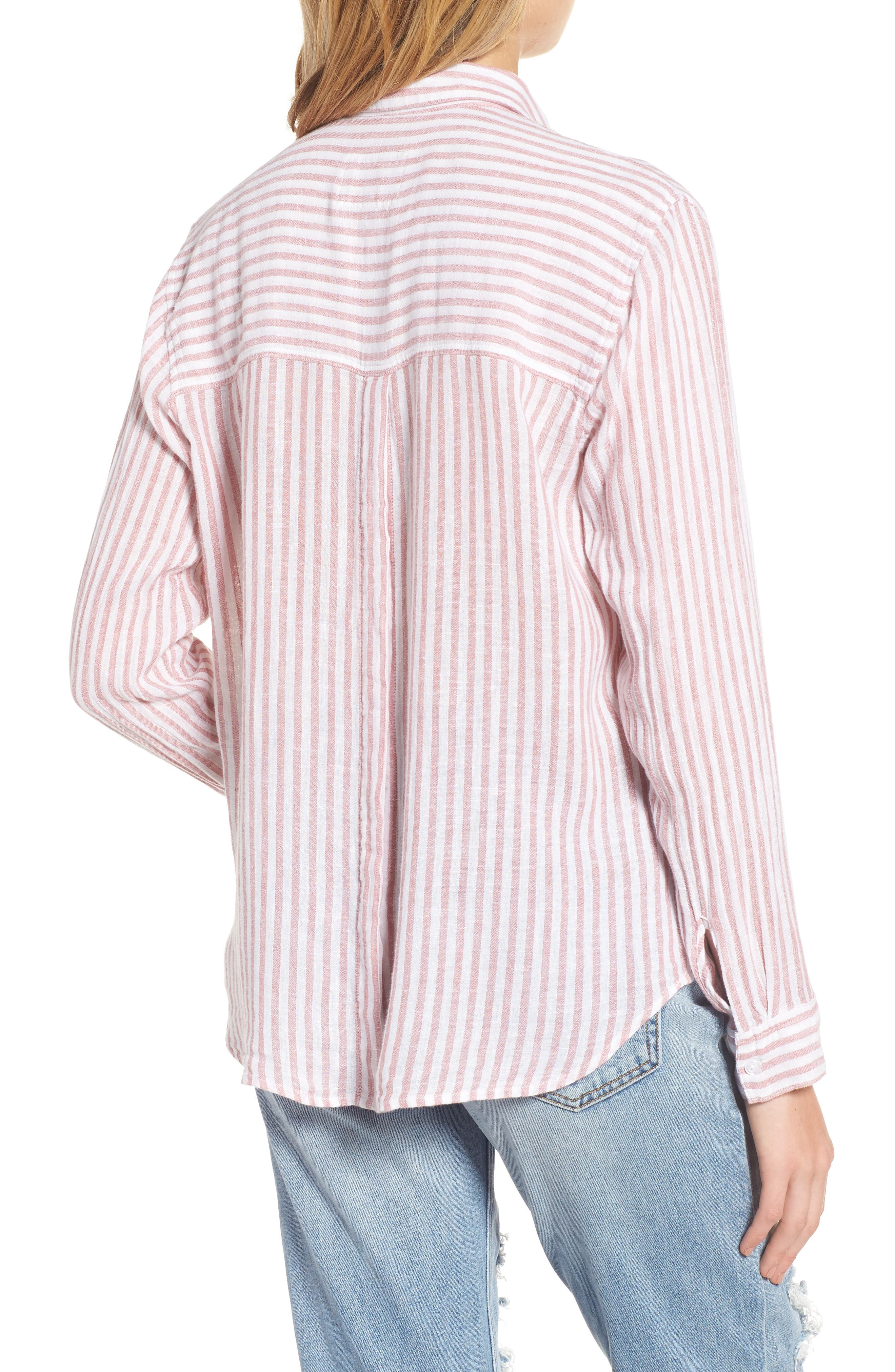 Sydney Stripe Linen Blend Shirt,                             Alternate thumbnail 2, color,                             Florence Stripe