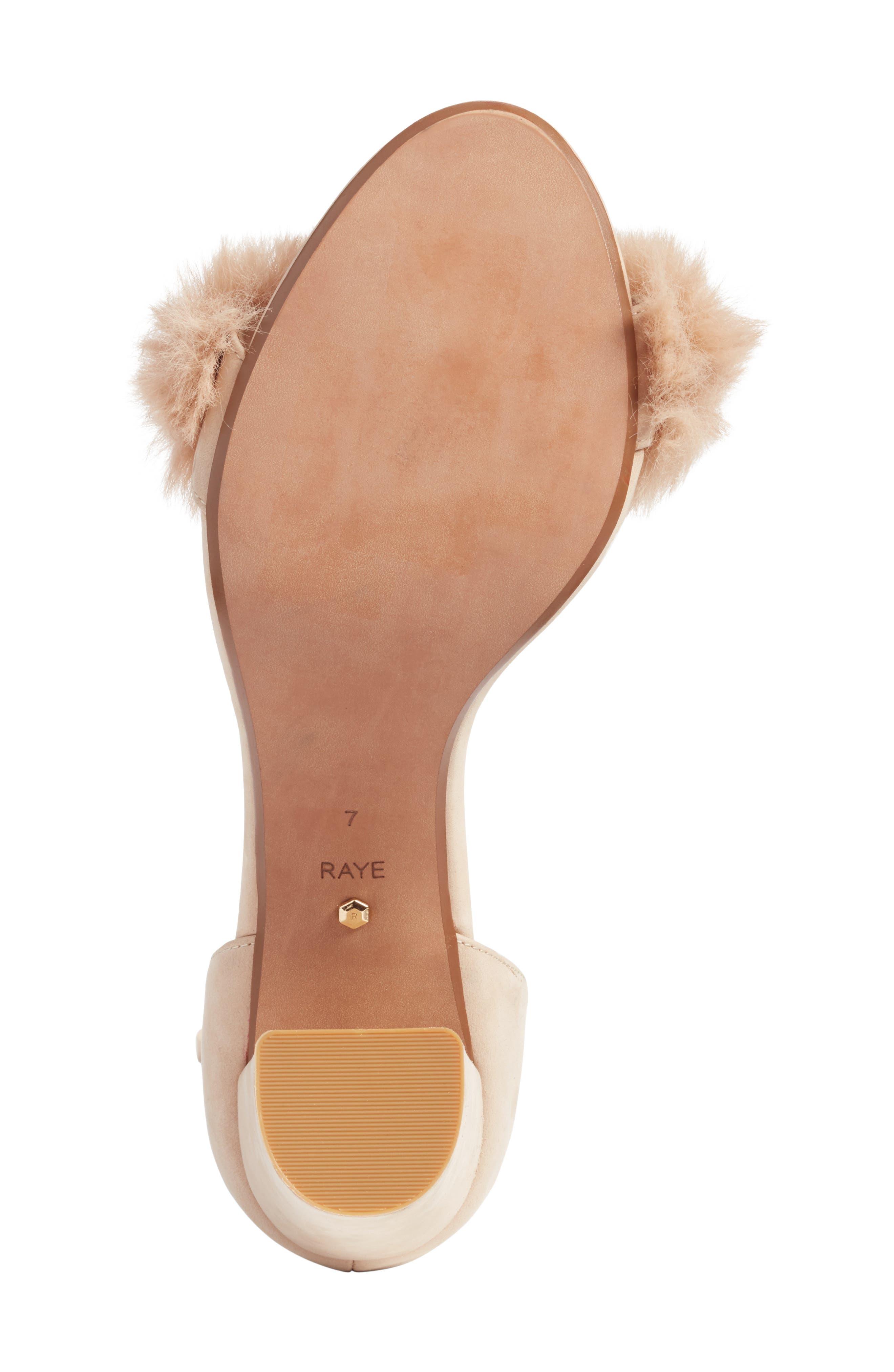 Lacey Faux Fur Sandal,                             Alternate thumbnail 6, color,                             Sable Fur