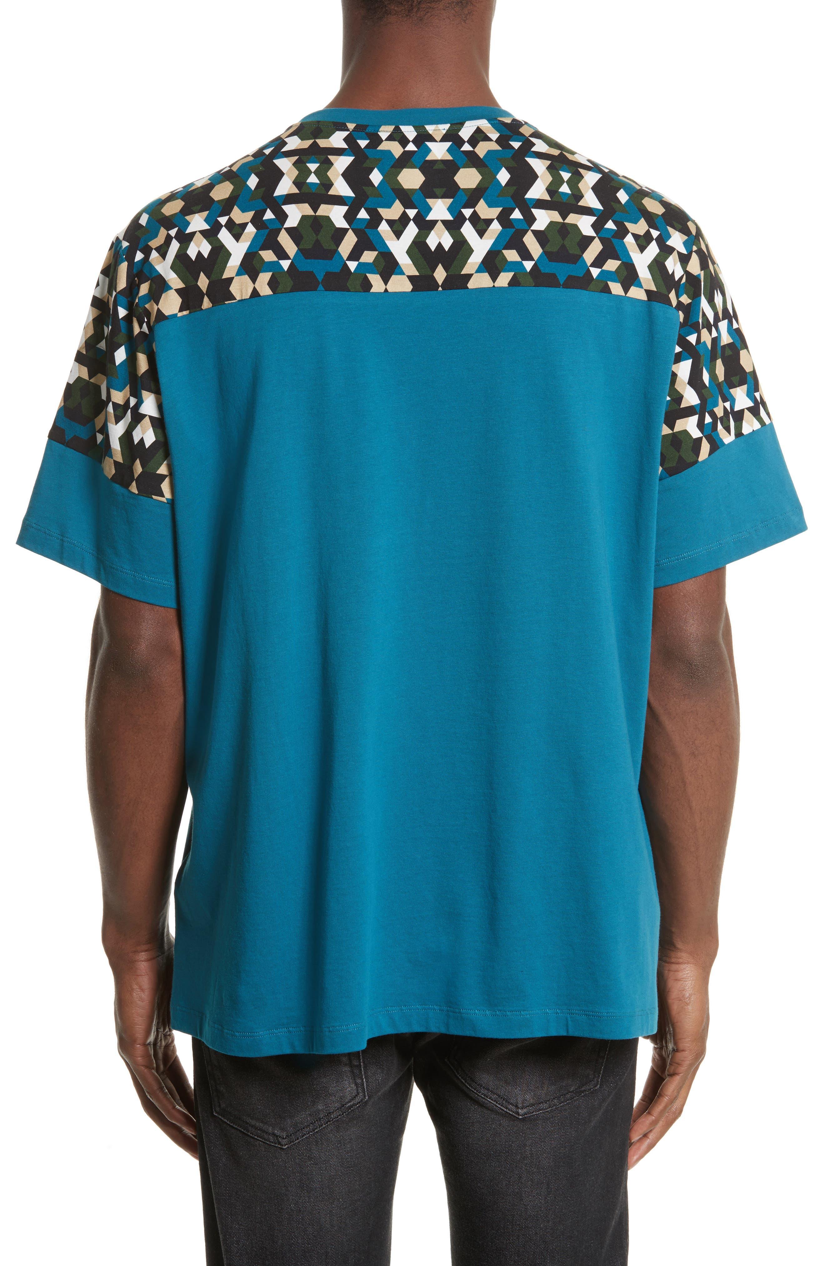 Geo Colorblock T-Shirt,                             Alternate thumbnail 2, color,                             Teal Print
