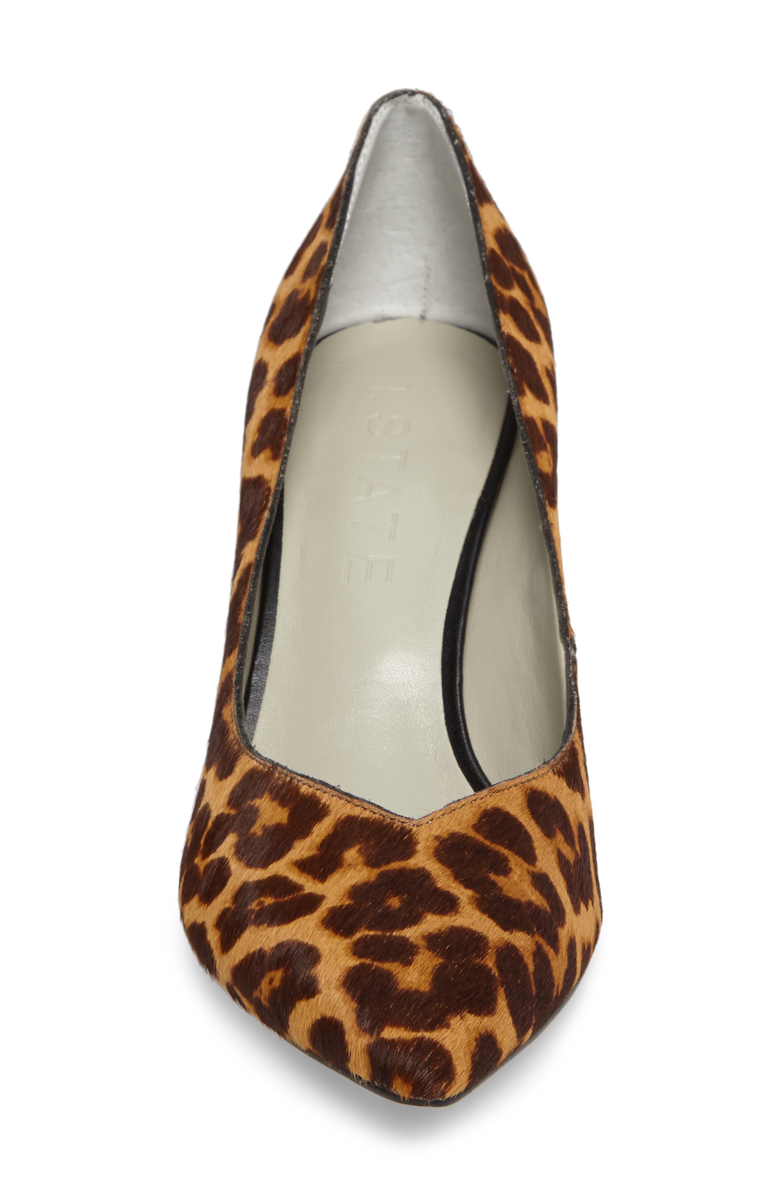 Saffy 2 Genuine Calf Hair Pump,                             Alternate thumbnail 4, color,                             Leopard