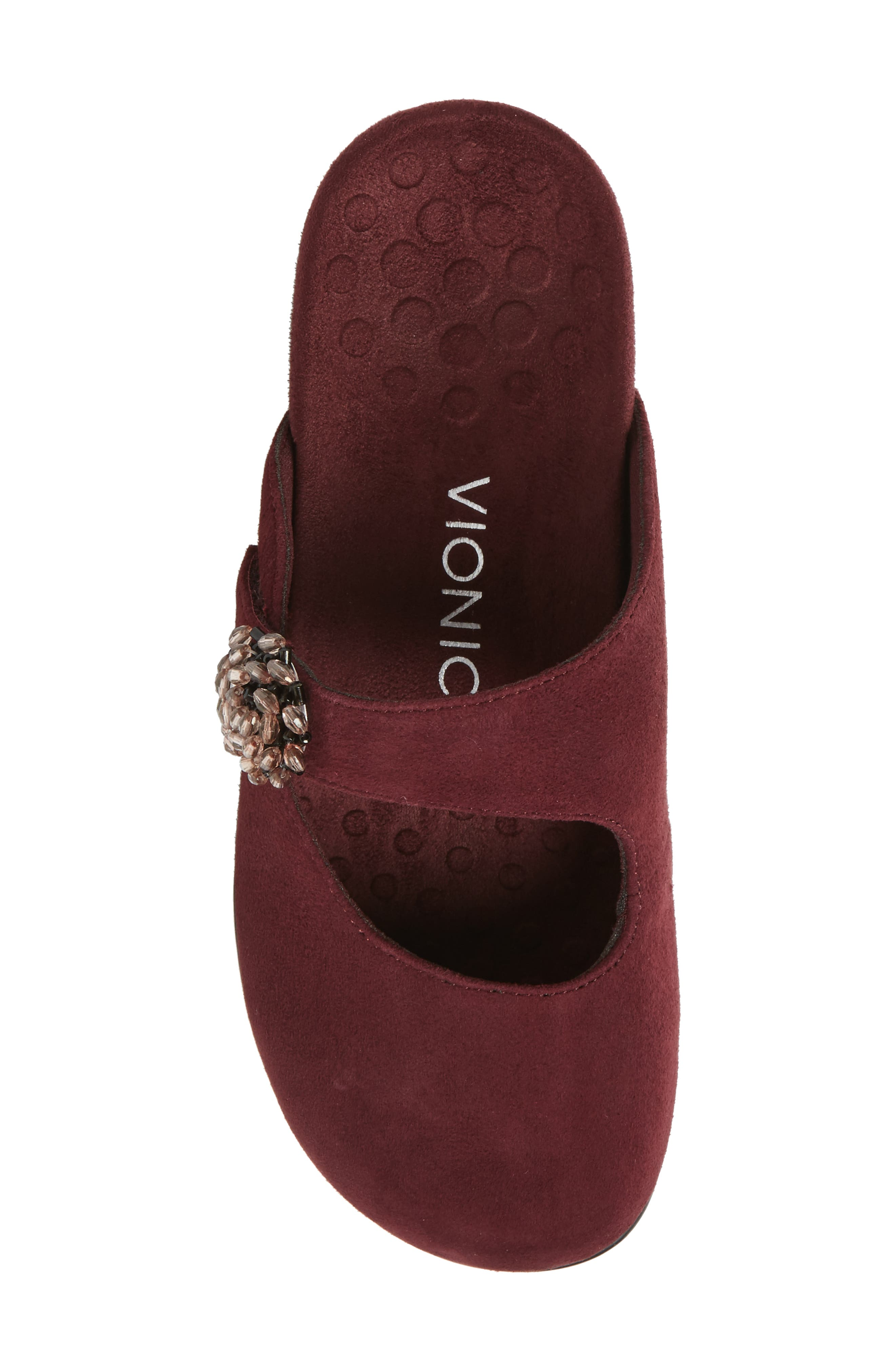 Rest Joan Mary Jane Mule,                             Alternate thumbnail 5, color,                             Merlot Suede