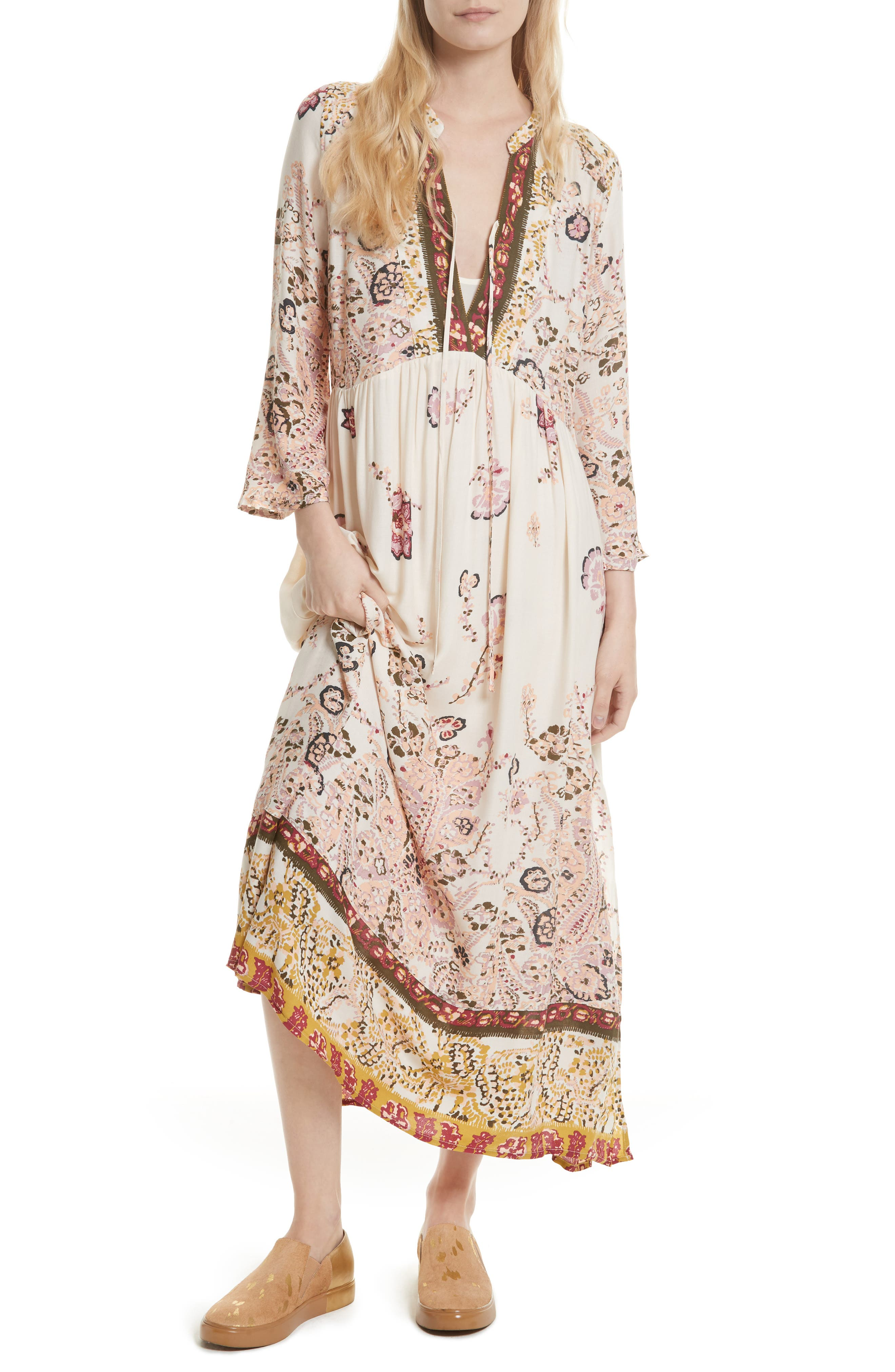 Main Image - Free People If You Only Knew Peasant Dress