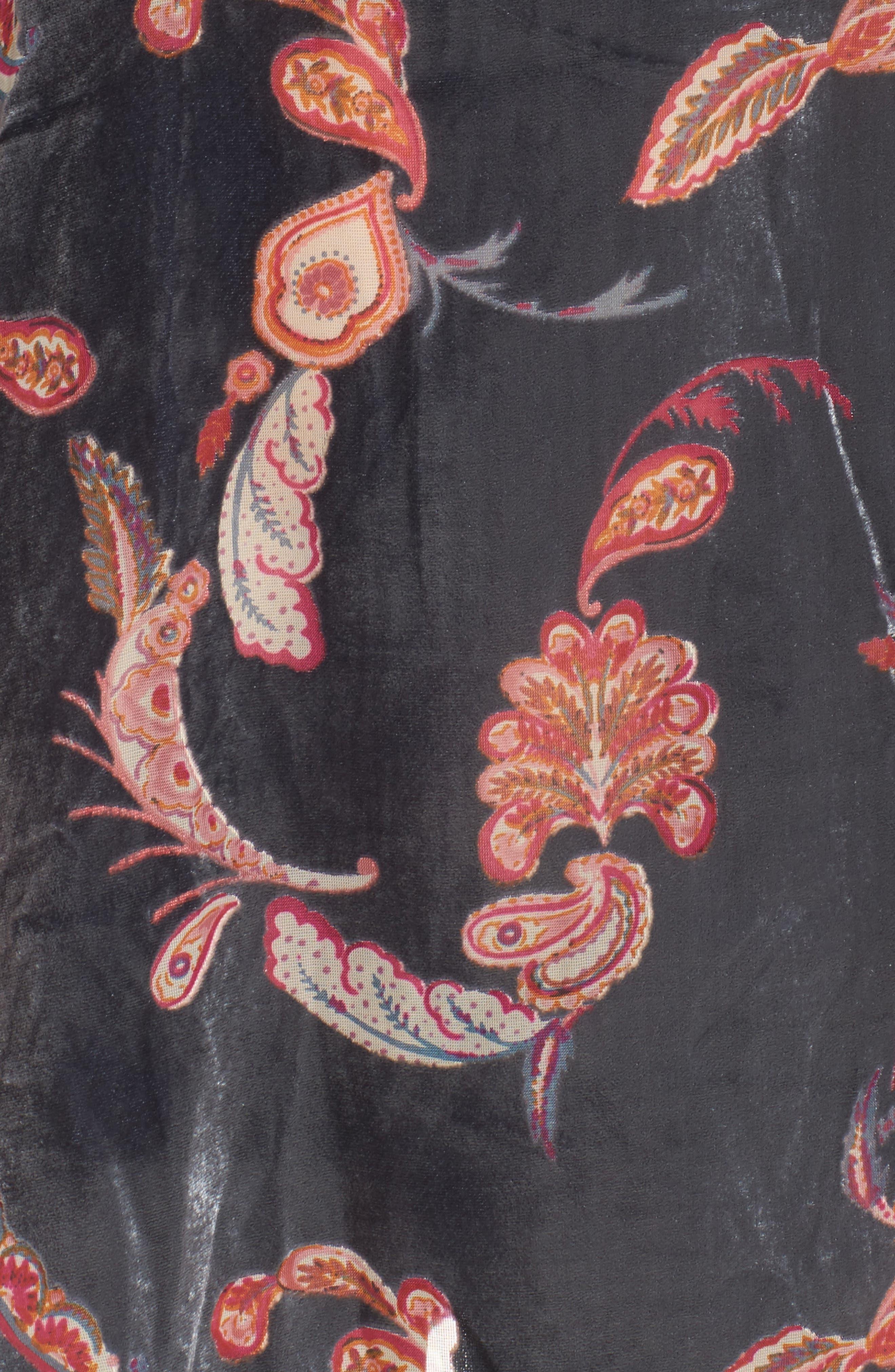 Alternate Image 6  - Chelsea28 Print Velvet Chemise