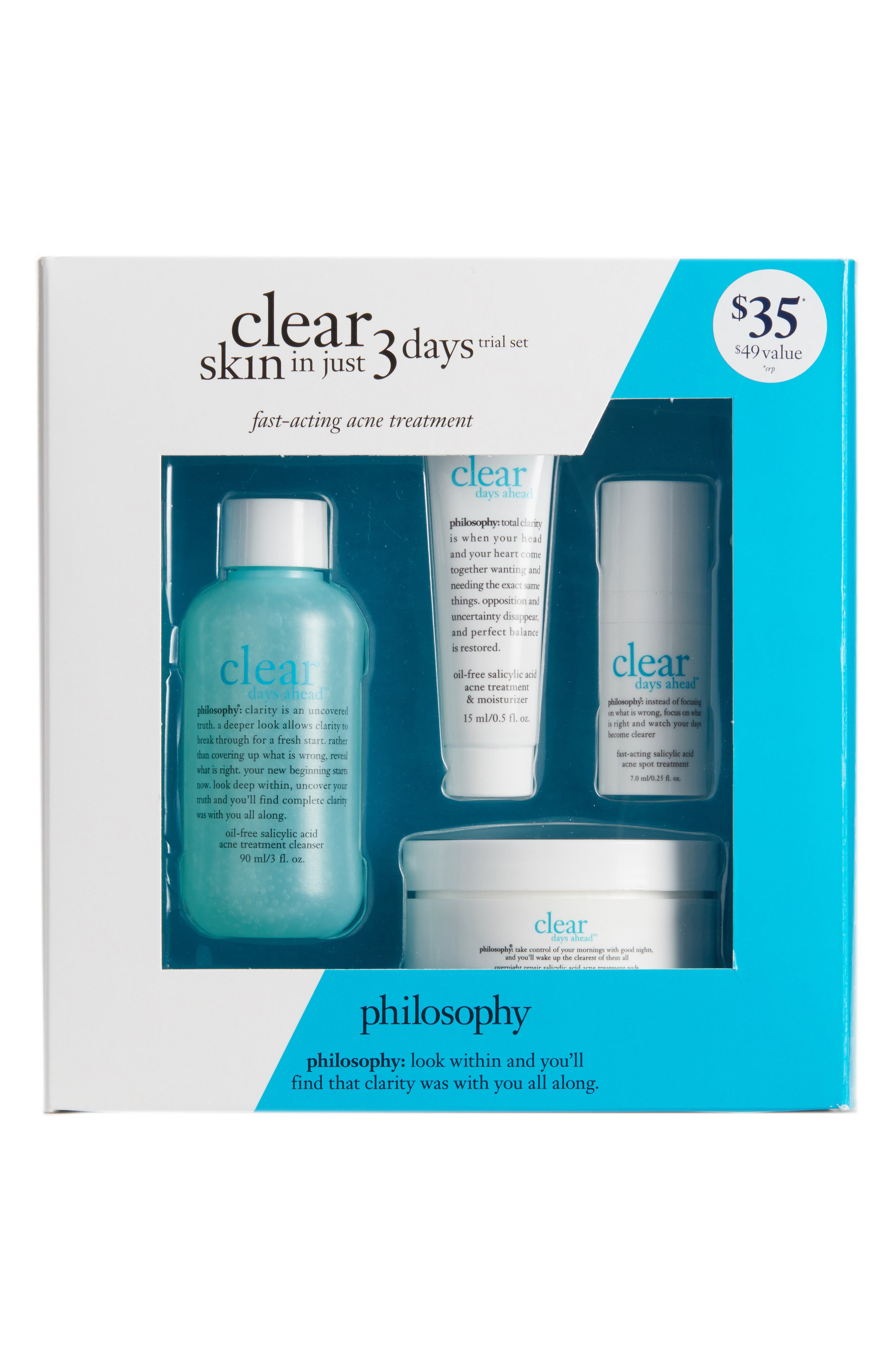 Main Image - philosophy clear days ahead trial set ($49 Value)