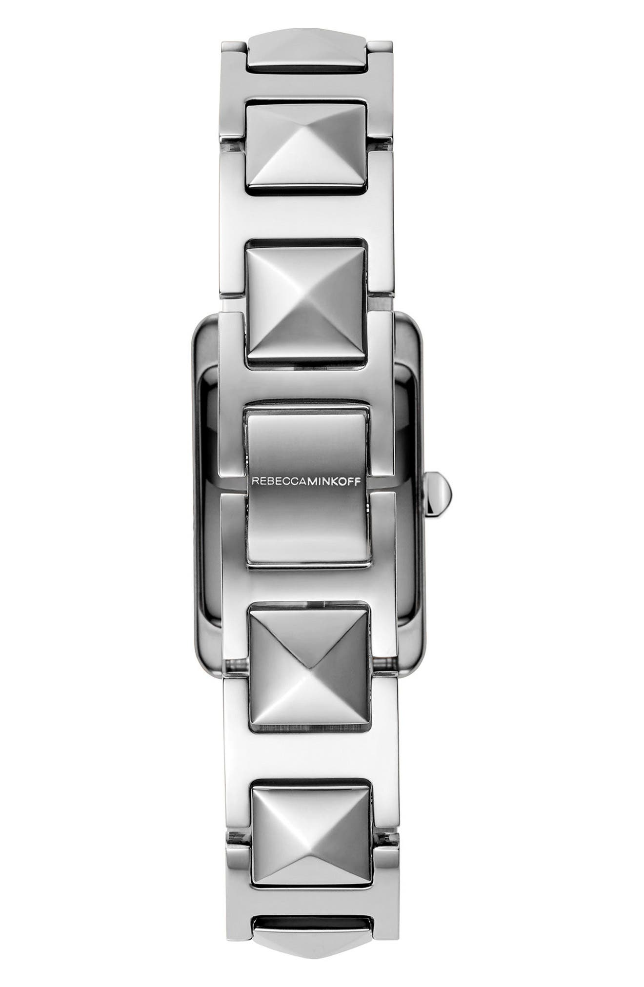 Moment Bracelet Watch, 19mm x 30mm,                             Alternate thumbnail 2, color,                             Silver