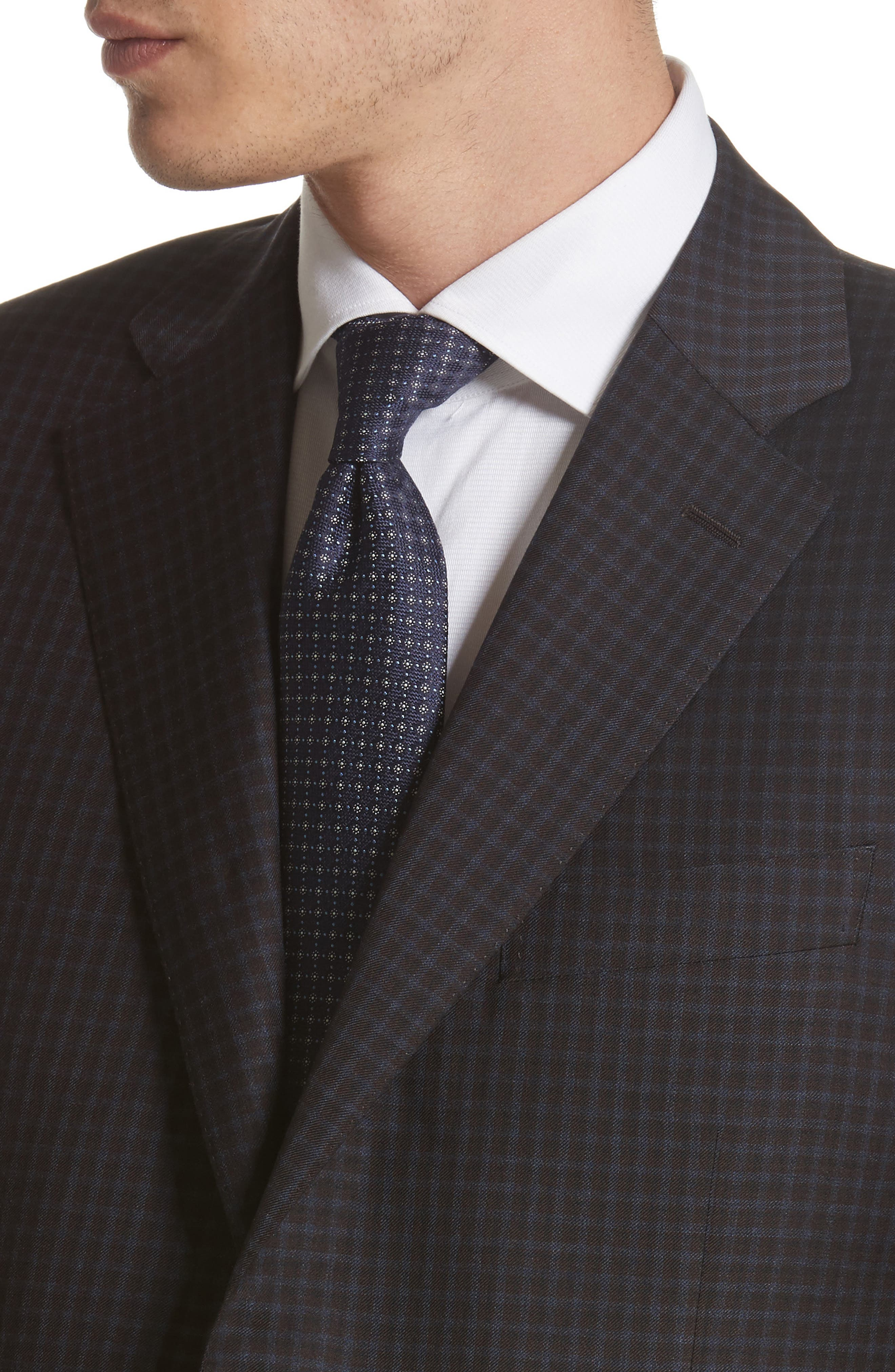 Classic Fit Check Wool Sport Coat,                             Alternate thumbnail 4, color,                             Blue